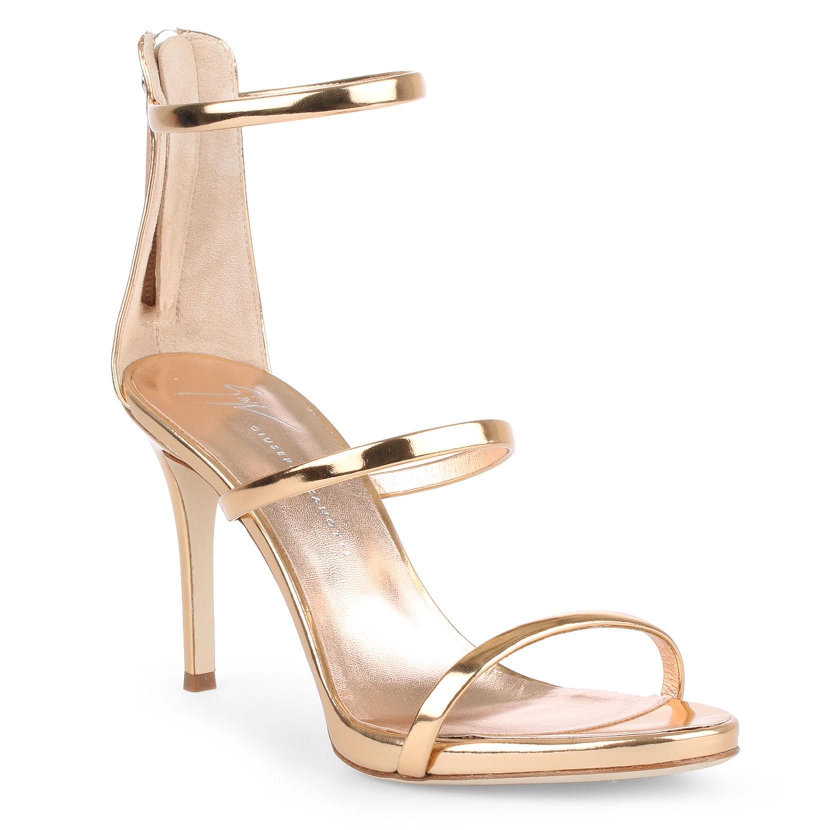 3b7b898d937de Giuseppe Zanotti Harmony 90 Rose Gold Sandals in Metallic - Lyst