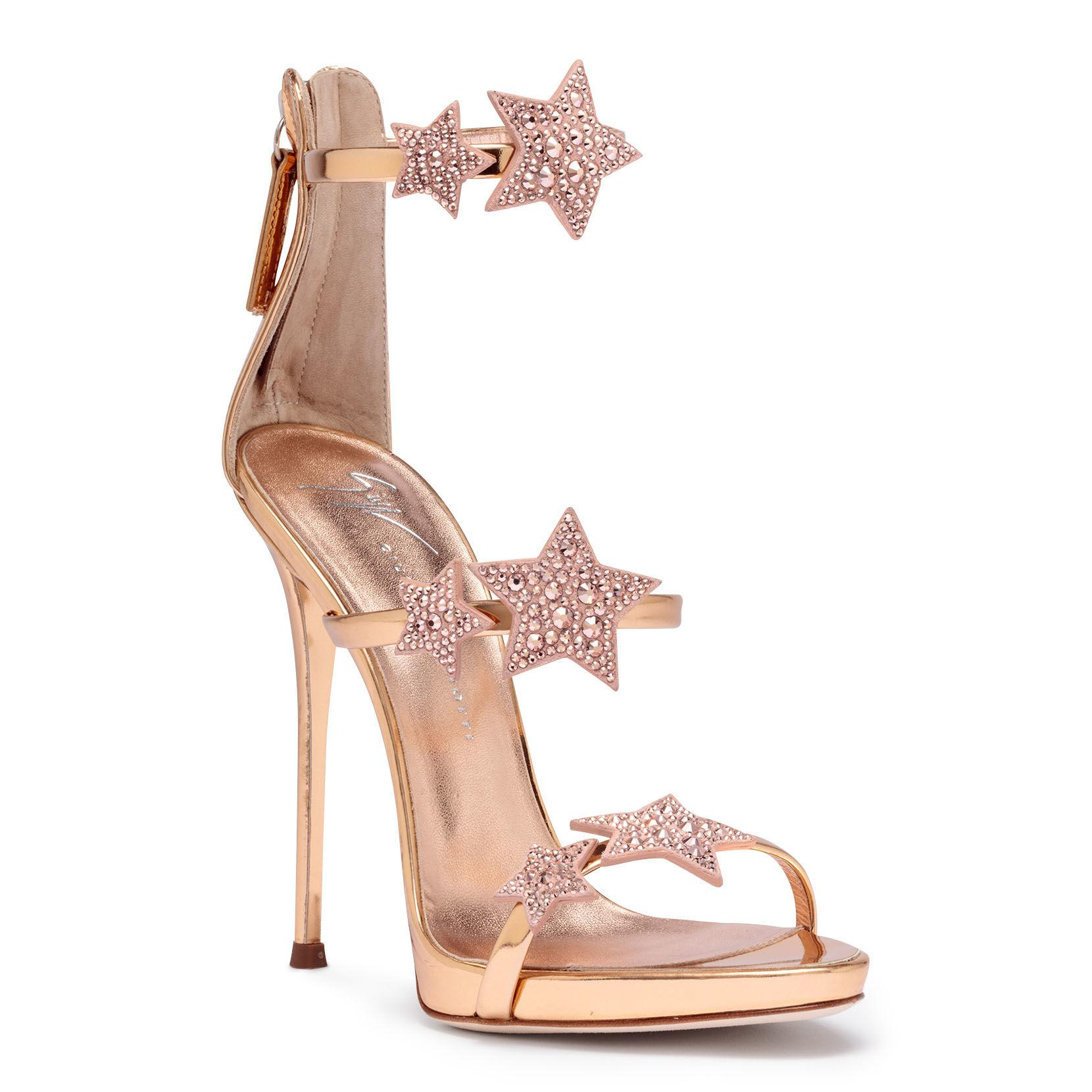 c79522e5902 Women's Pink Harmony Star 120 Rose Gold Leather Sandals