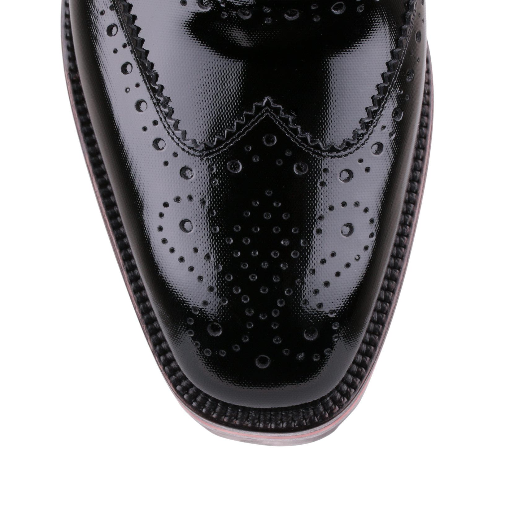 83c8f5af11e4 Lyst - Christian Louboutin Charletta Black Patent Broque in Black ...