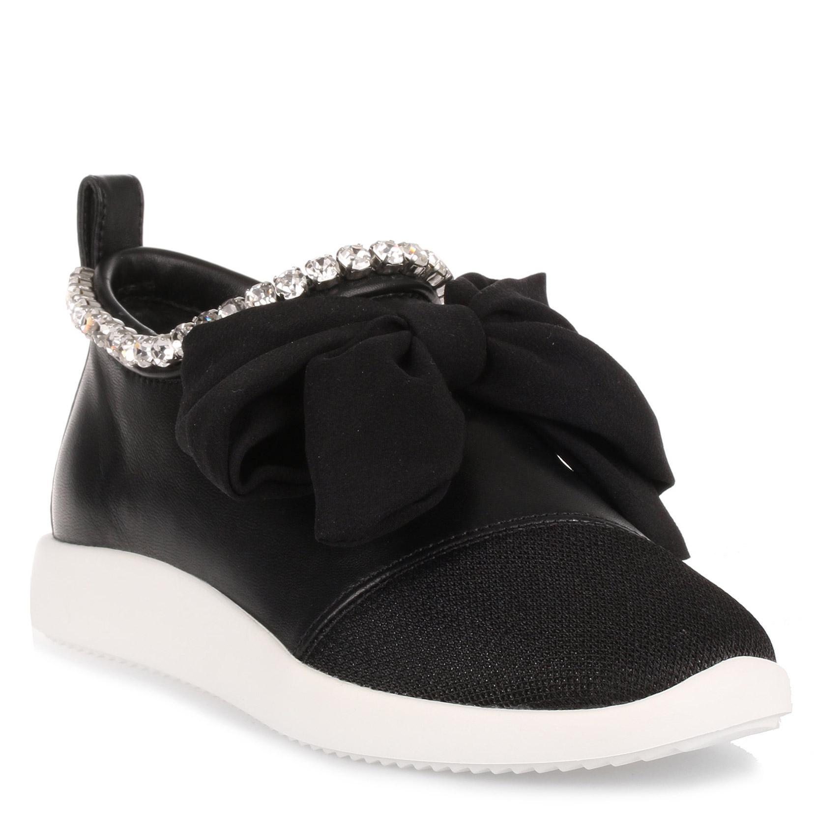 Crystal Embellished Bow Sneaker