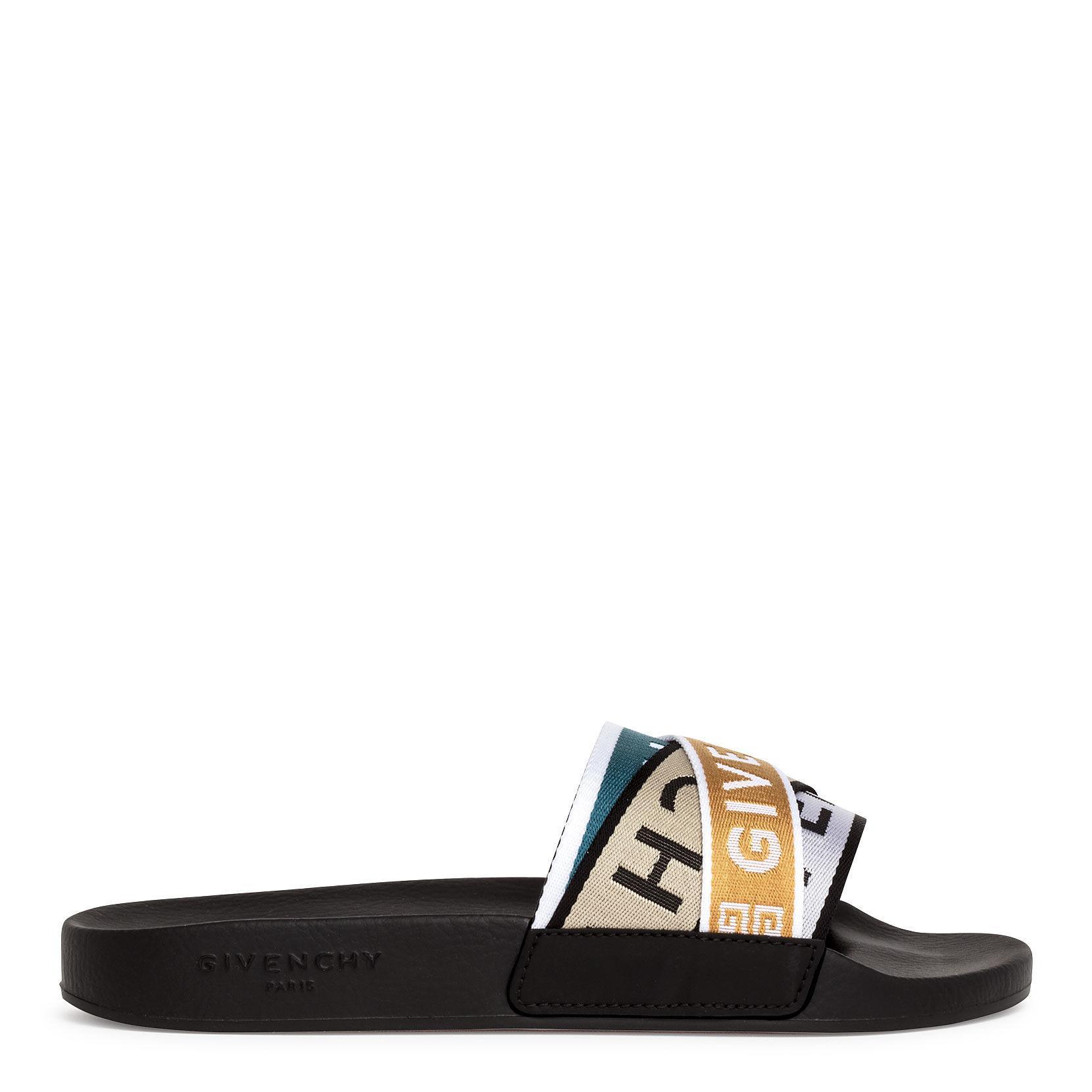 894efb9842e Women's Black Multicolor Grosgrain Slides