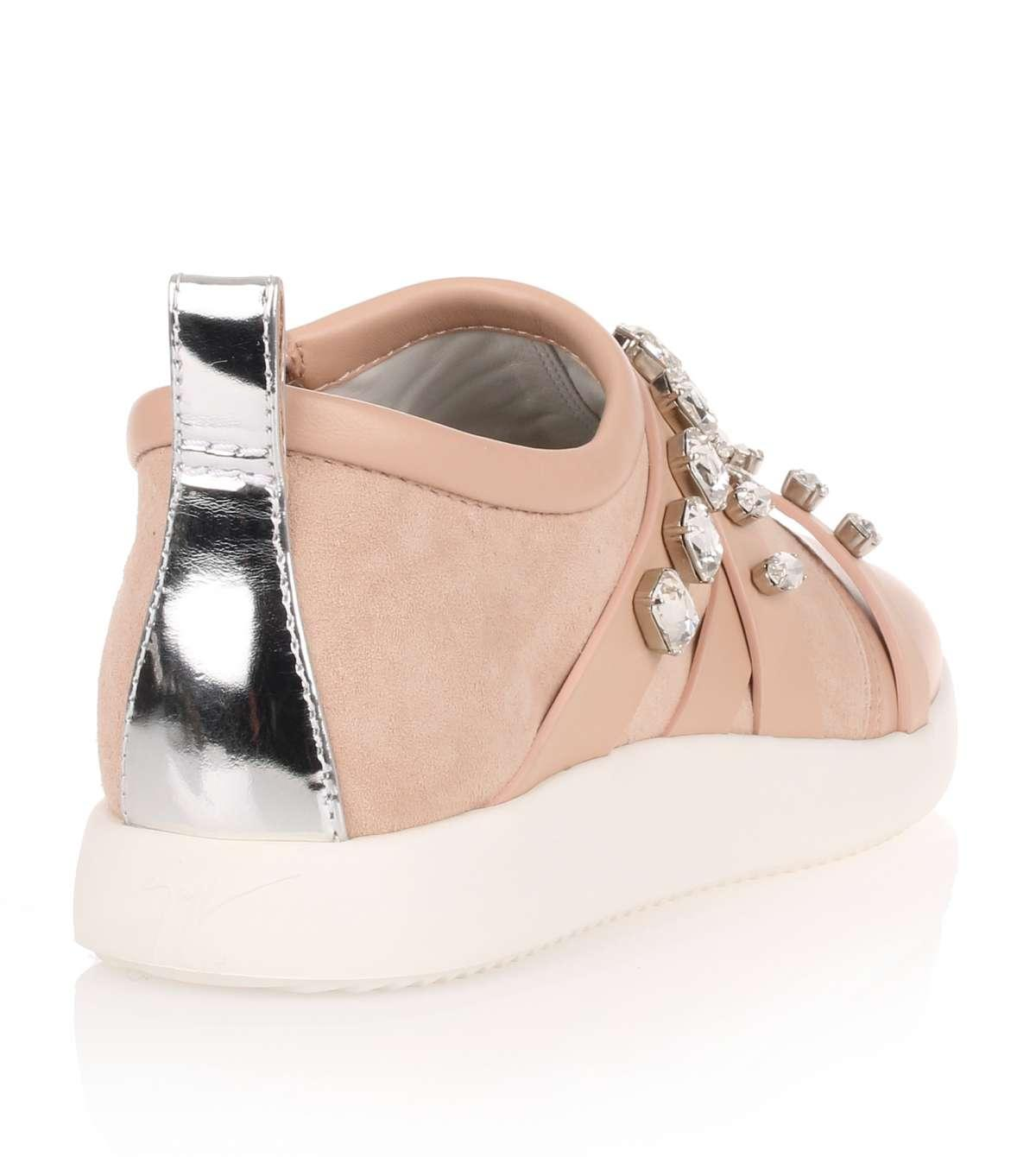 Blush suede and nappa leather sneaker Giuseppe Zanotti KCDCYVV3