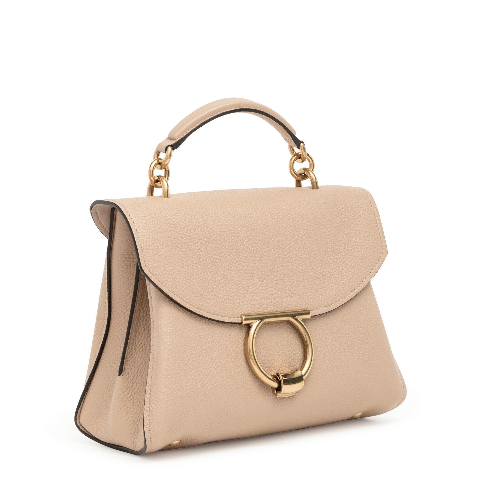 17cb102d2eb7 Ferragamo - Natural Margot S Beige Leather Bag - Lyst. View fullscreen
