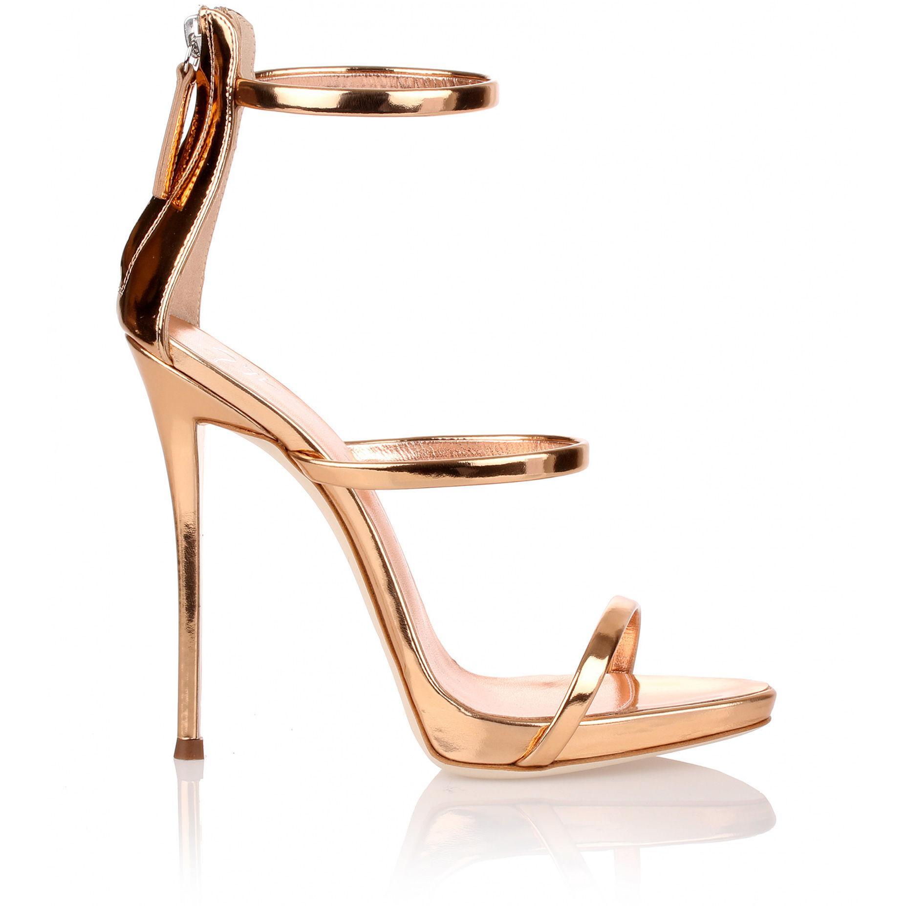 f2bf5ca3c4825 Giuseppe Zanotti Harmony Rose Gold Sandal - Lyst