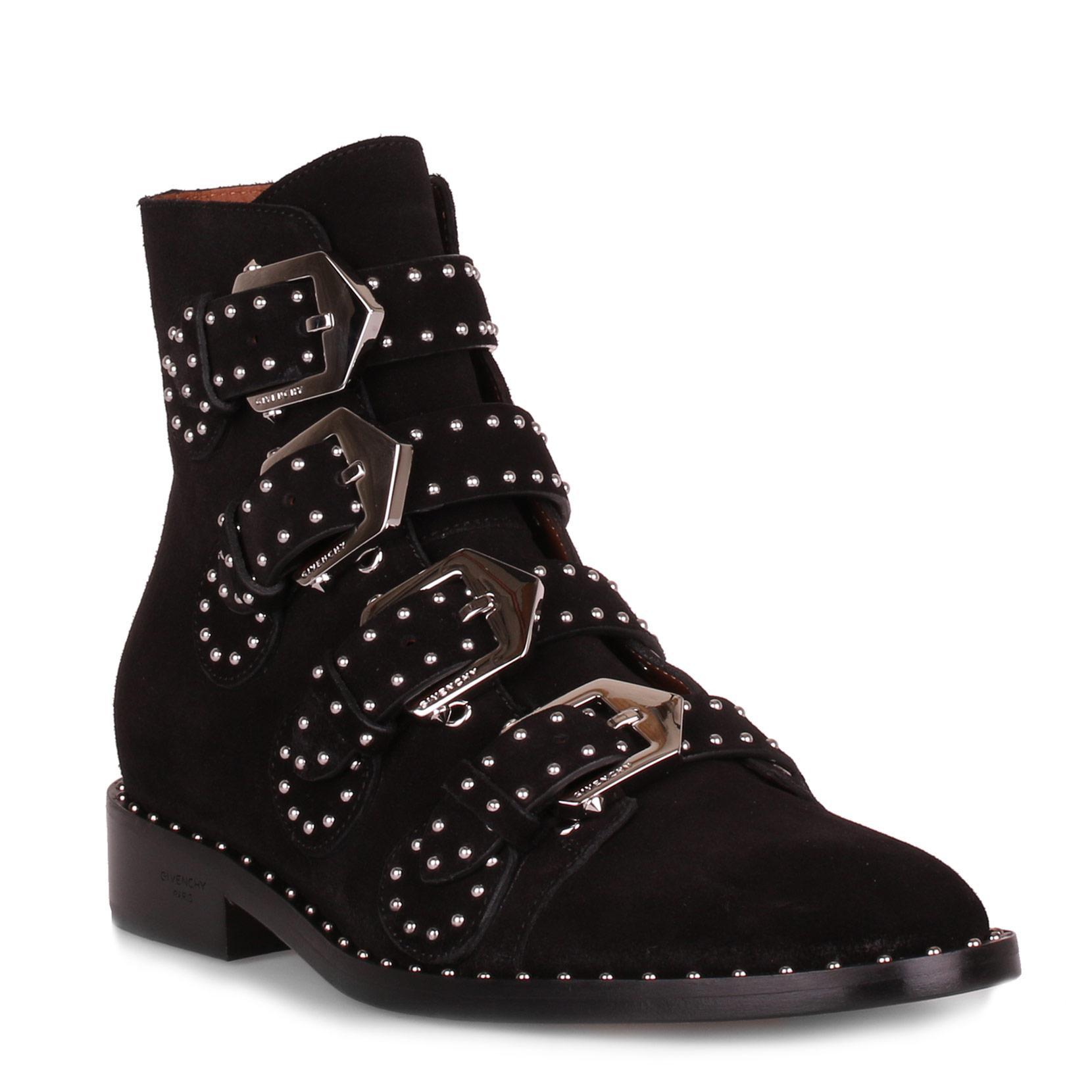 Elegant flat black leather boot Givenchy e2T7p95v