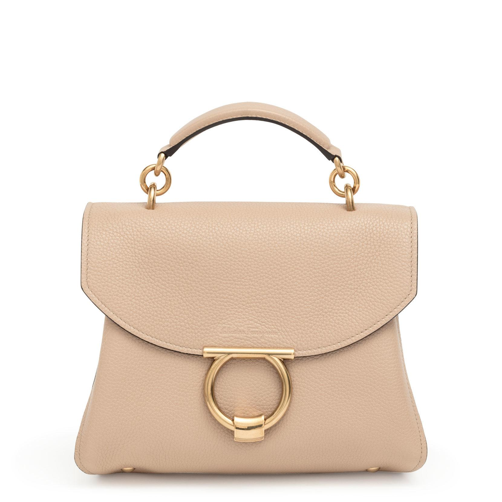 e00615a6eb75 Lyst - Ferragamo Margot S Beige Leather Bag in Natural