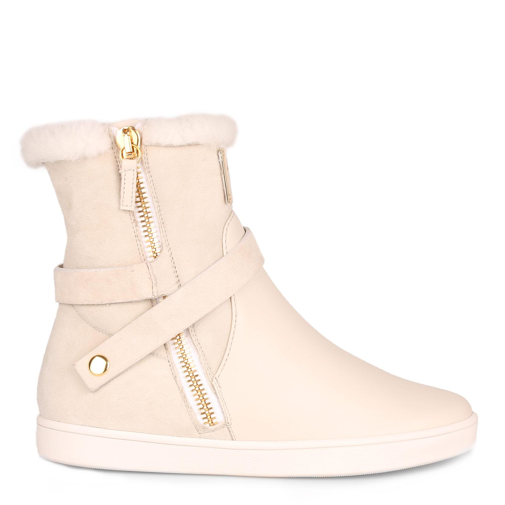 Off white shearling sneaker Giuseppe Zanotti Clearance Low Price Fee Shipping Classic Cheap Price Reliable Cheap Online FDTS4