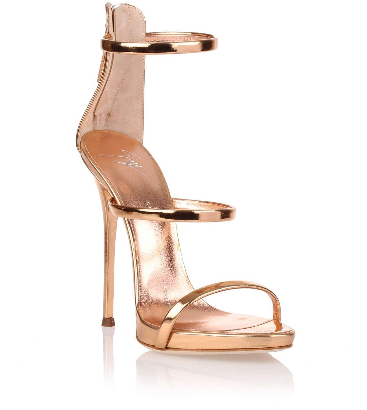 3223c07506b29 Giuseppe Zanotti Harmony Rose Gold Sandal - Lyst