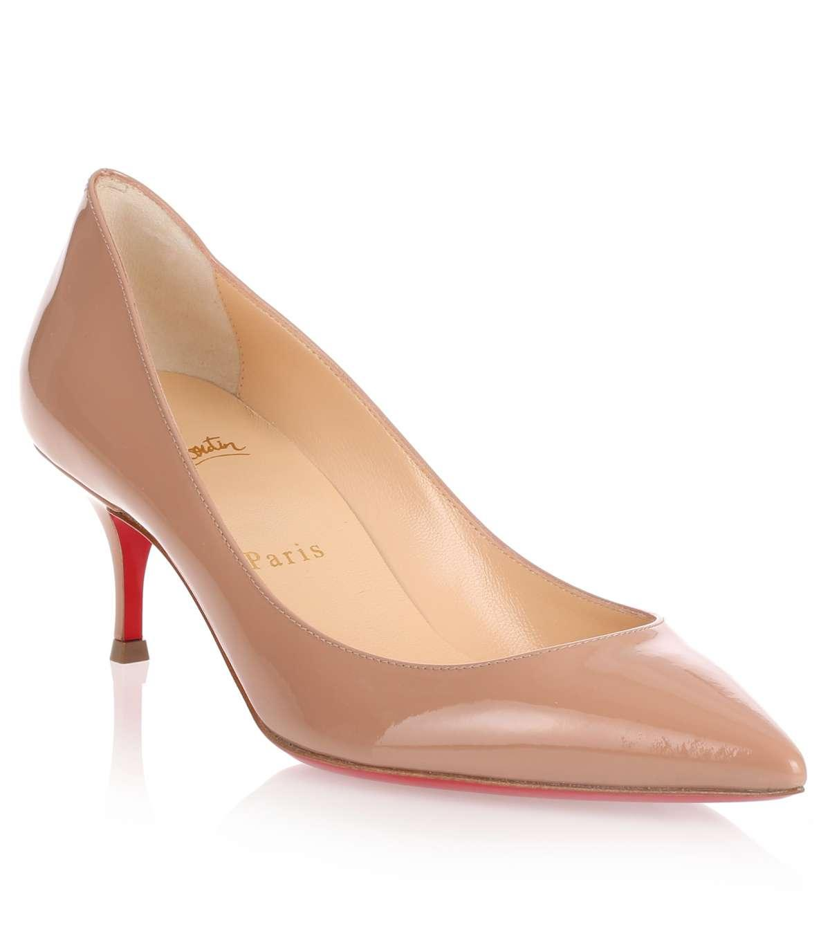 1136a2e32e2 Christian Louboutin Natural Pigalle Follies 55 Patent Nude Pump Us