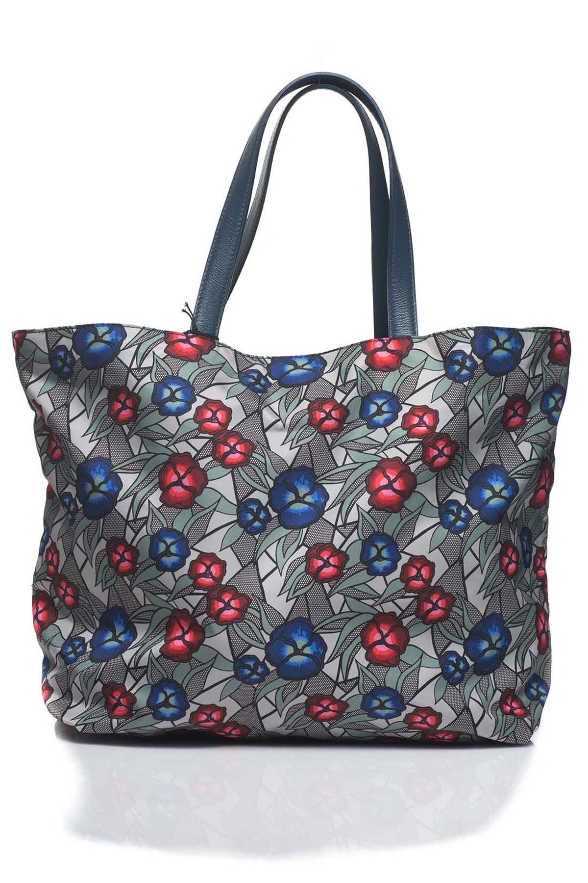 furla dama shopping bag in blue lyst