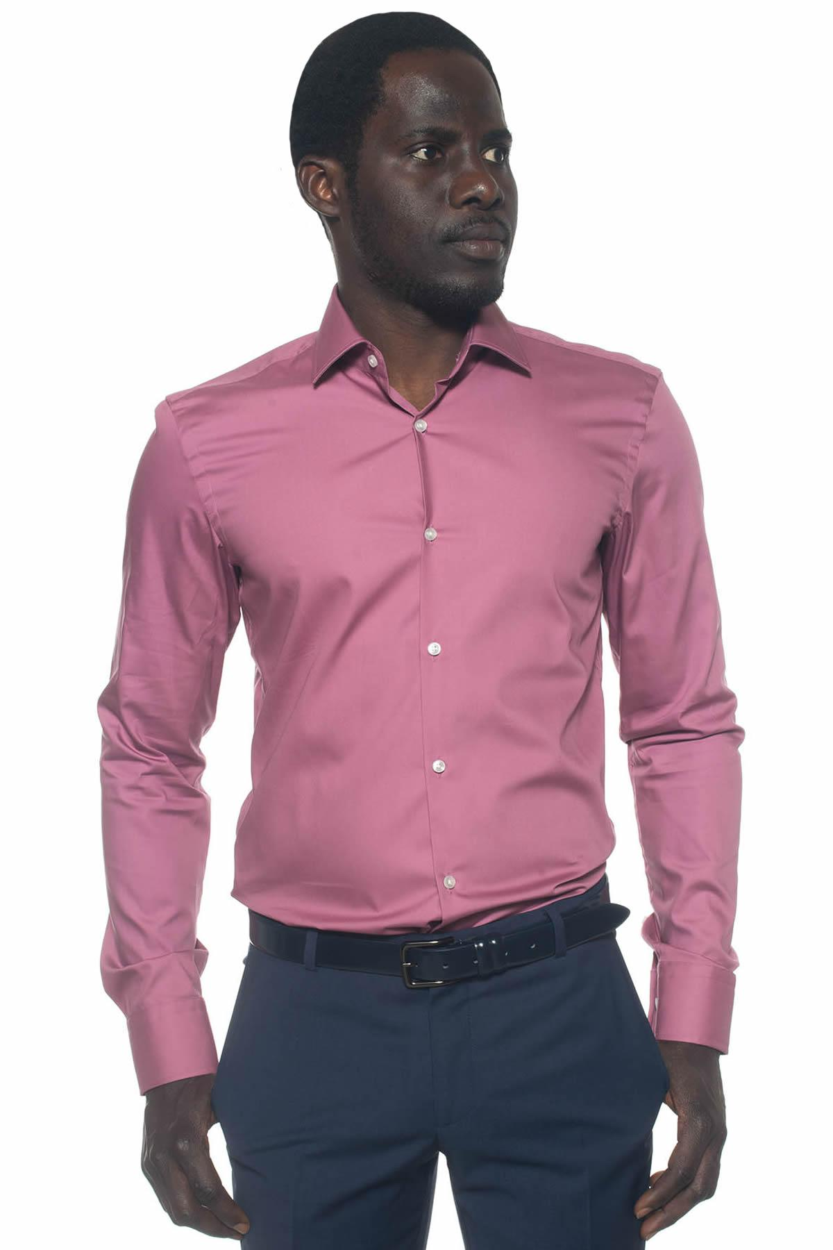 Lyst boss by hugo boss dress shirt in pink for men for Hugo boss shirt dress