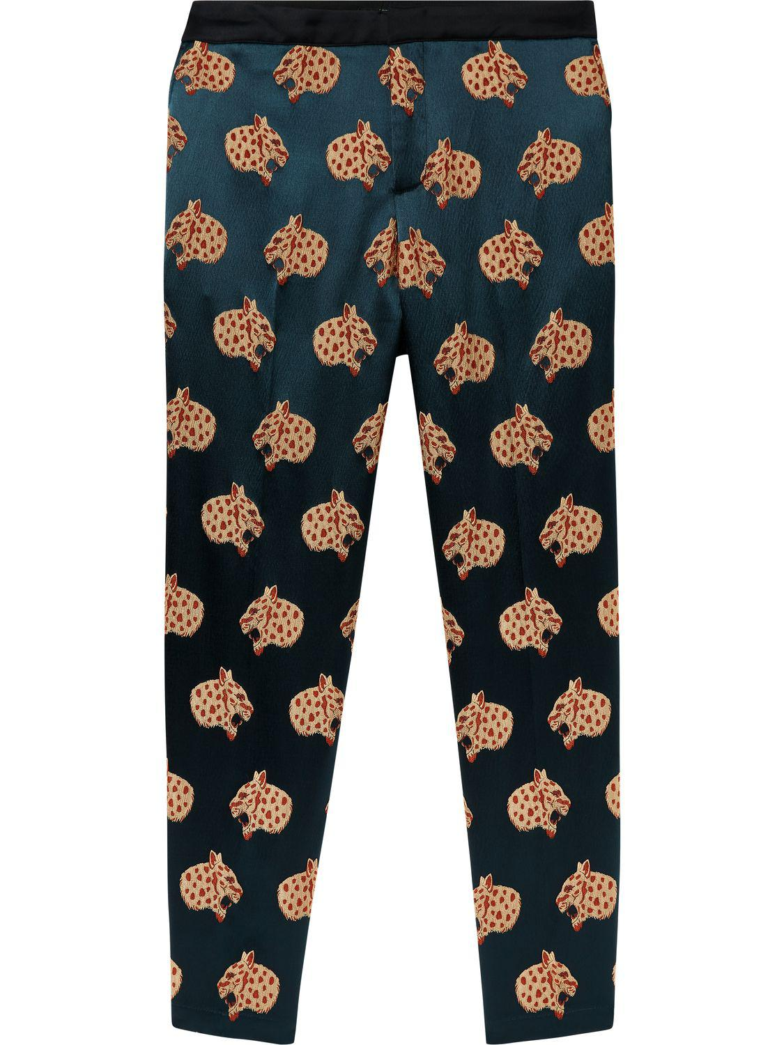the cheapest exclusive range really comfortable Snow Leopard Jacquard Trousers