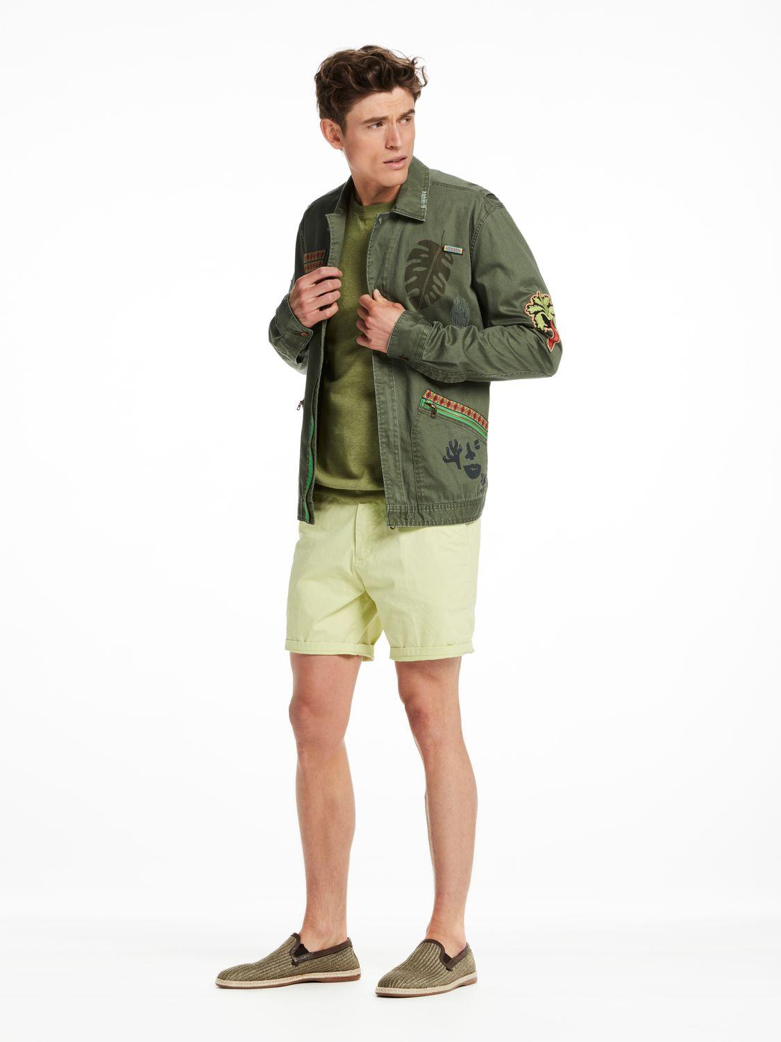 scotch soda worked out shirt jacket in green for men lyst. Black Bedroom Furniture Sets. Home Design Ideas