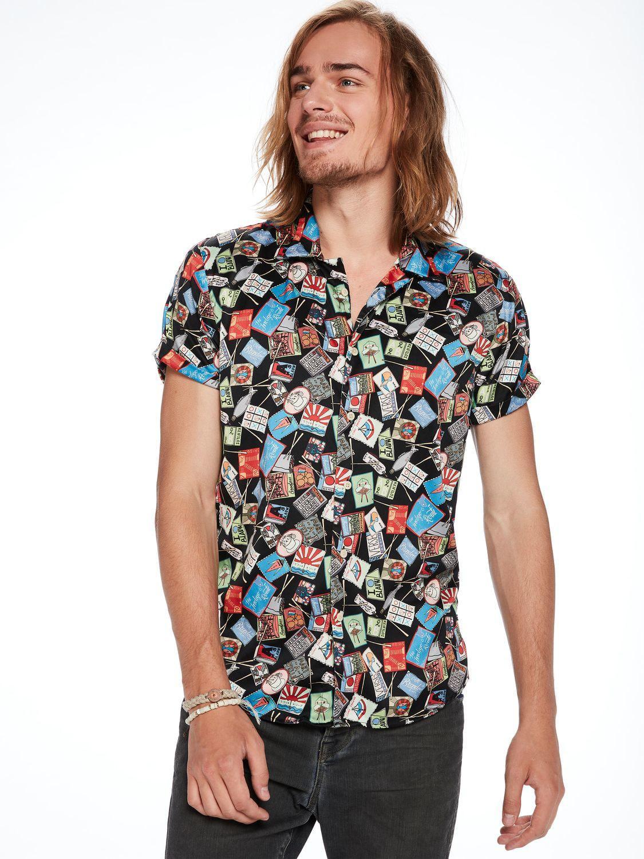 50d4d264 Scotch & Soda Souvenir Printed Hawaii Shirt Regular Fit for Men - Lyst