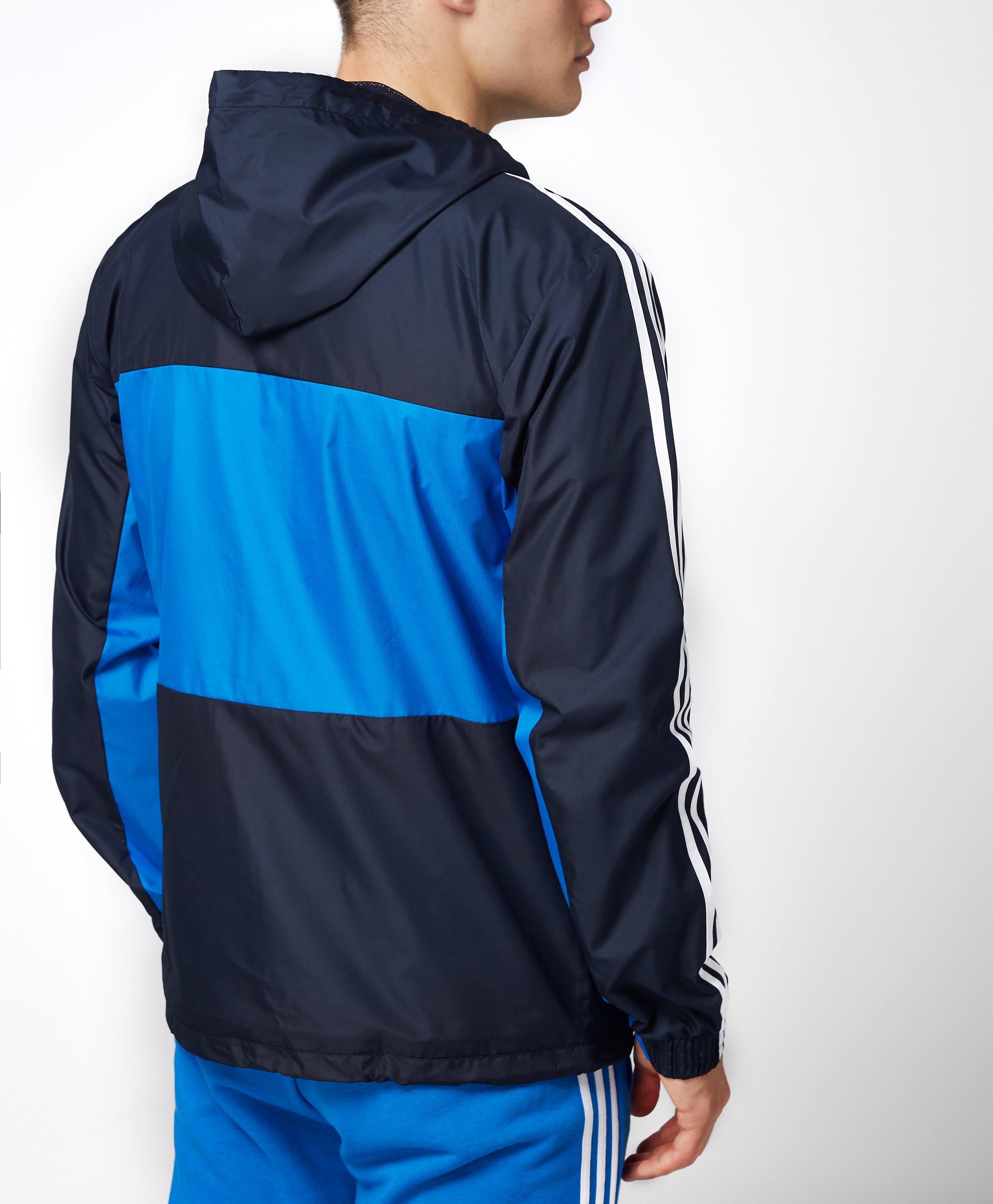 lyst adidas originals clfn windbreaker jacket ay7746. Black Bedroom Furniture Sets. Home Design Ideas