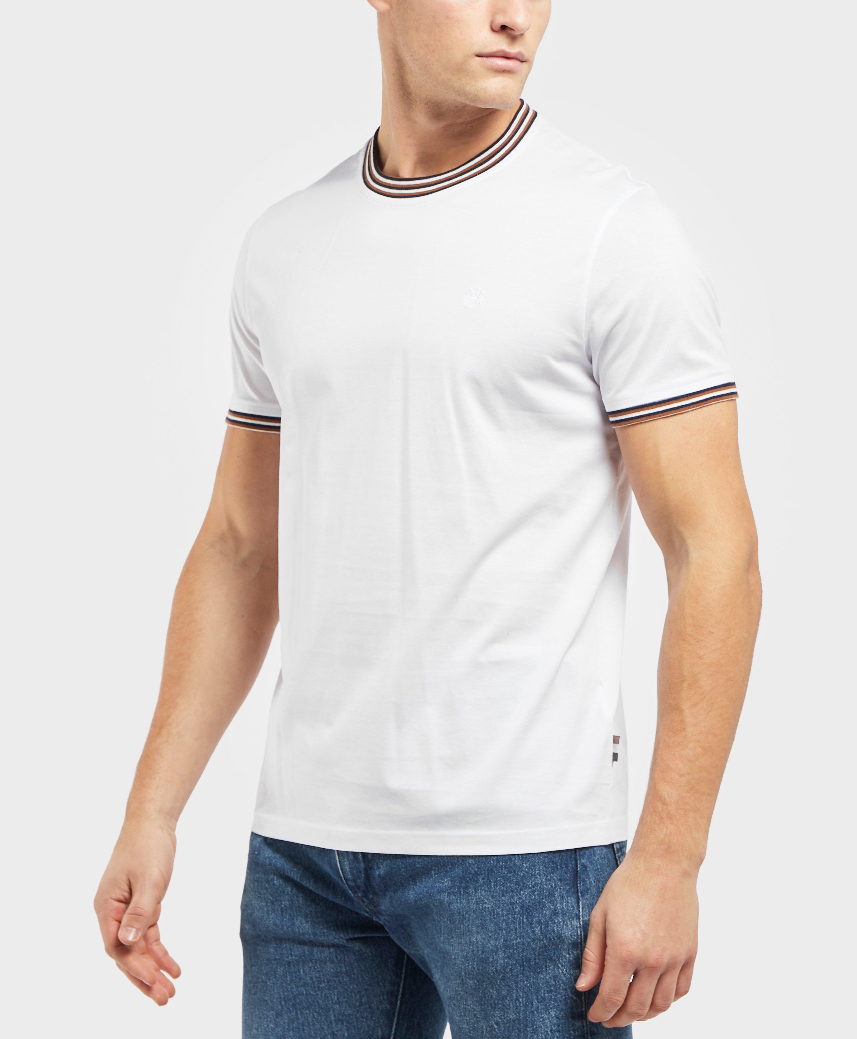 8182574e7ba Aquascutum Mercer Short Sleeve Tipped T-shirt for Men - Lyst