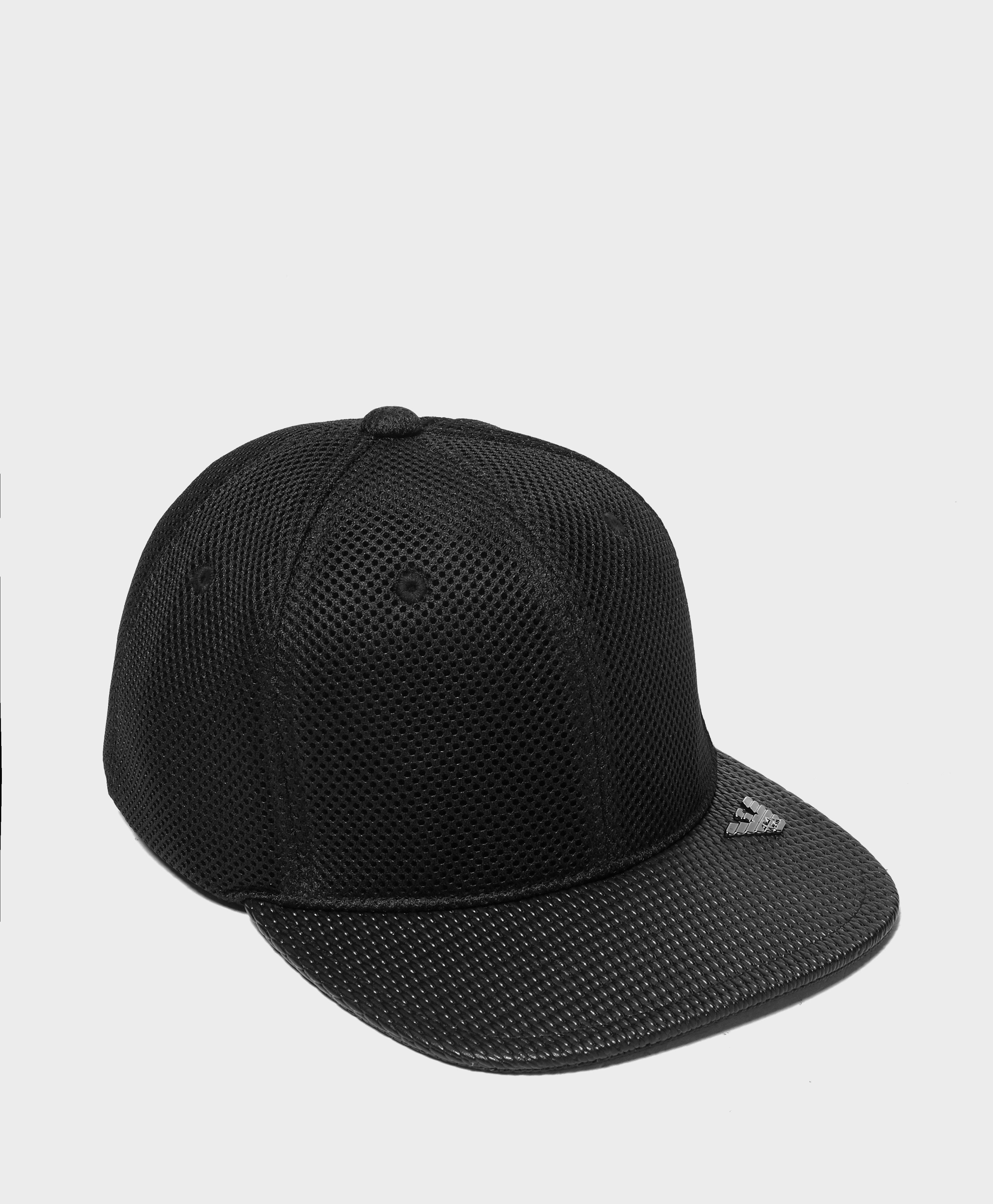 2d5fafc606b Lyst - Armani Jeans Mesh Cap in Black for Men