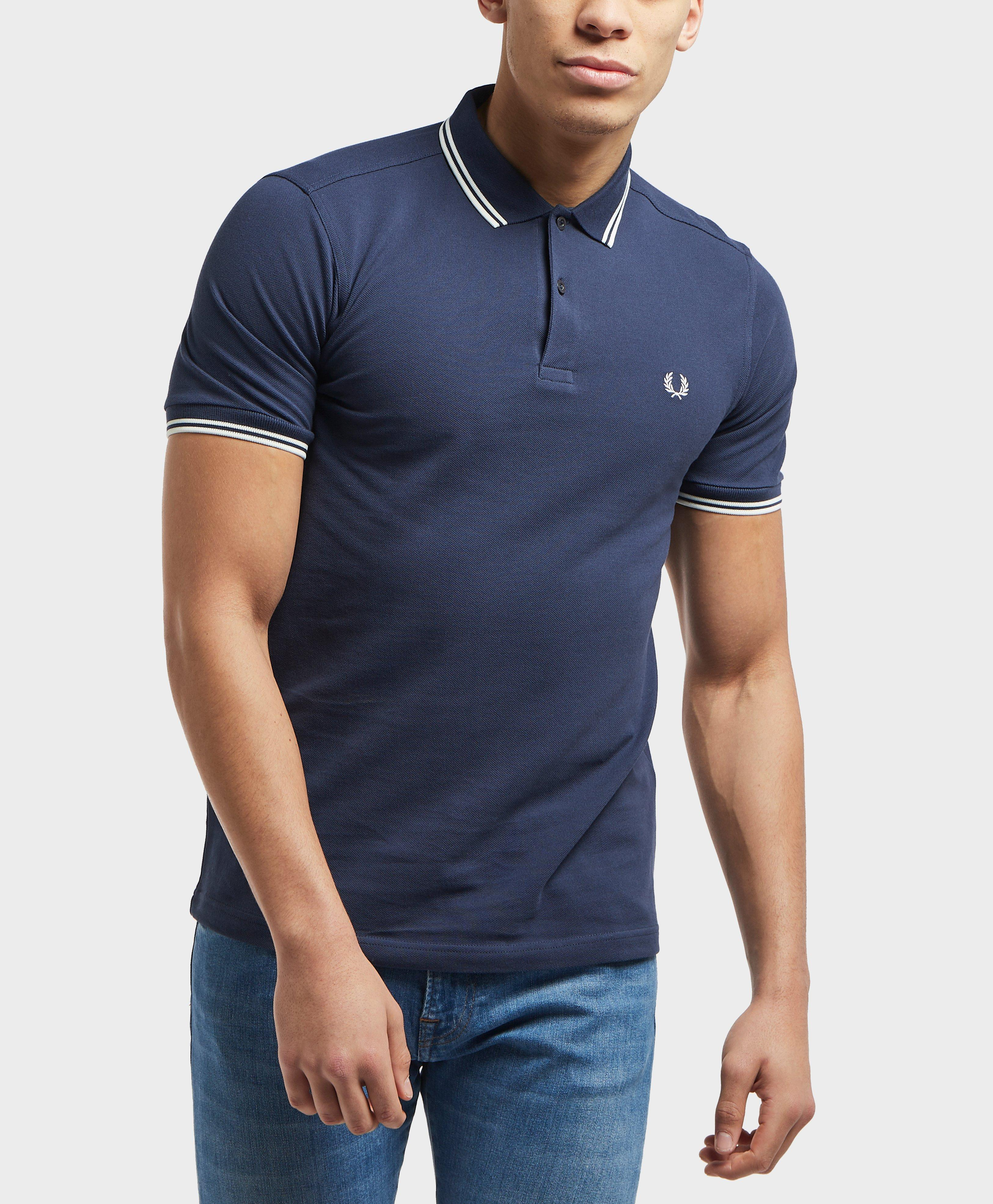 9dd55c543 Fred Perry Twin Tipped Short Sleeve Polo Shirt in Blue for Men - Lyst