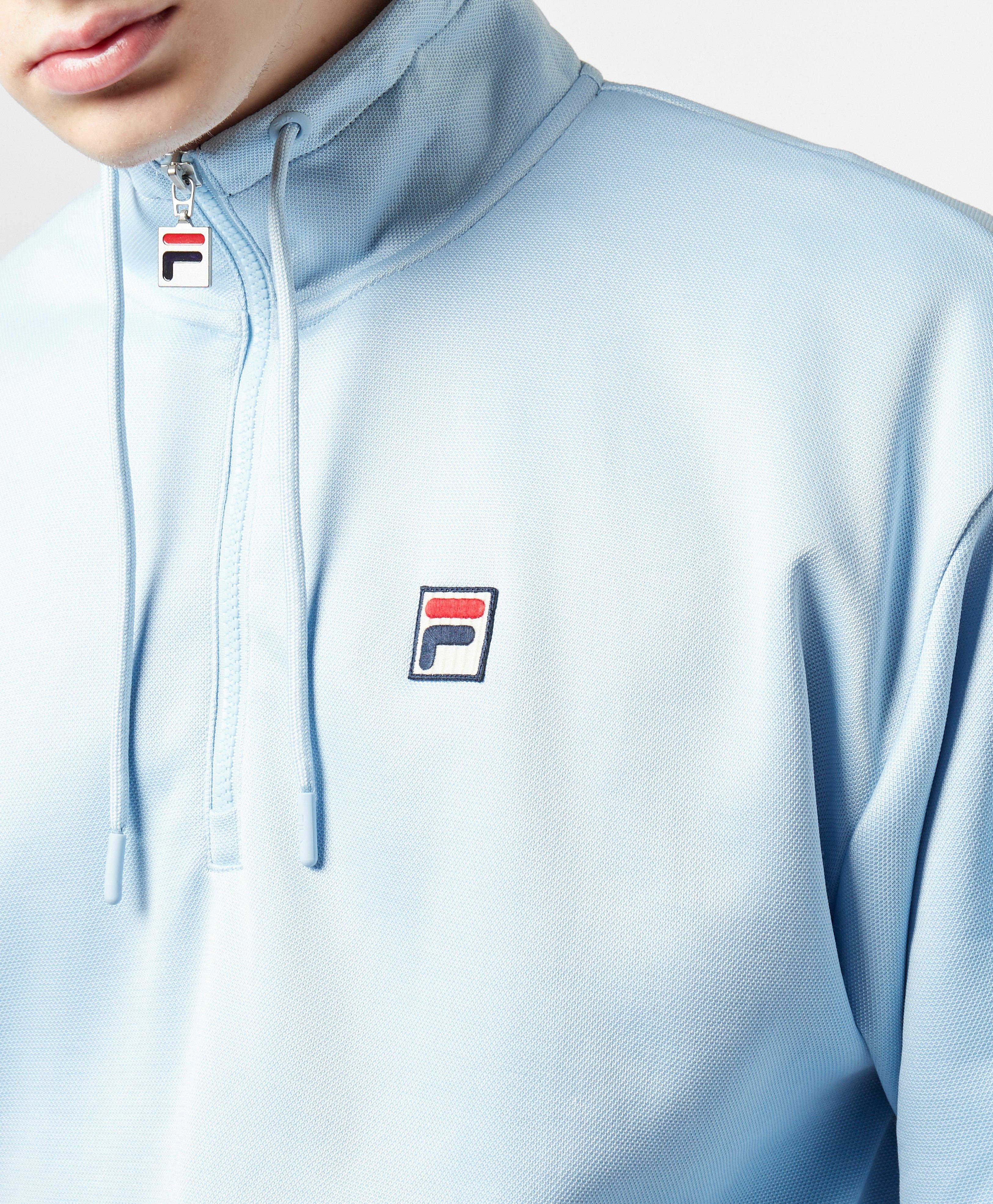 faa65ed7d993 Fila - Blue Tape Tip Half Zip Sweatshirt for Men - Lyst. View fullscreen