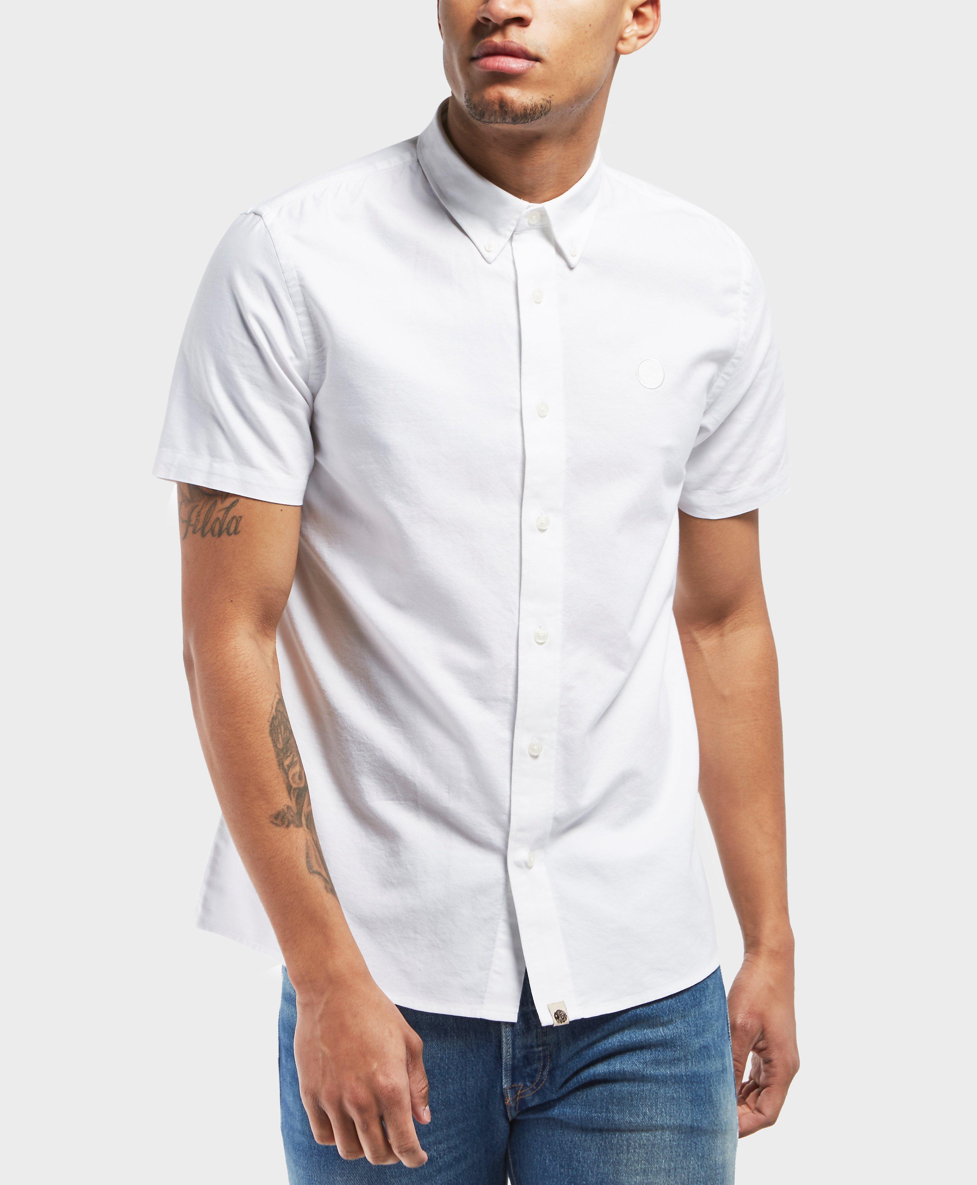 8a3d9e18d6e3 Pretty Green Short Sleeve Oxford Shirt in White for Men - Lyst