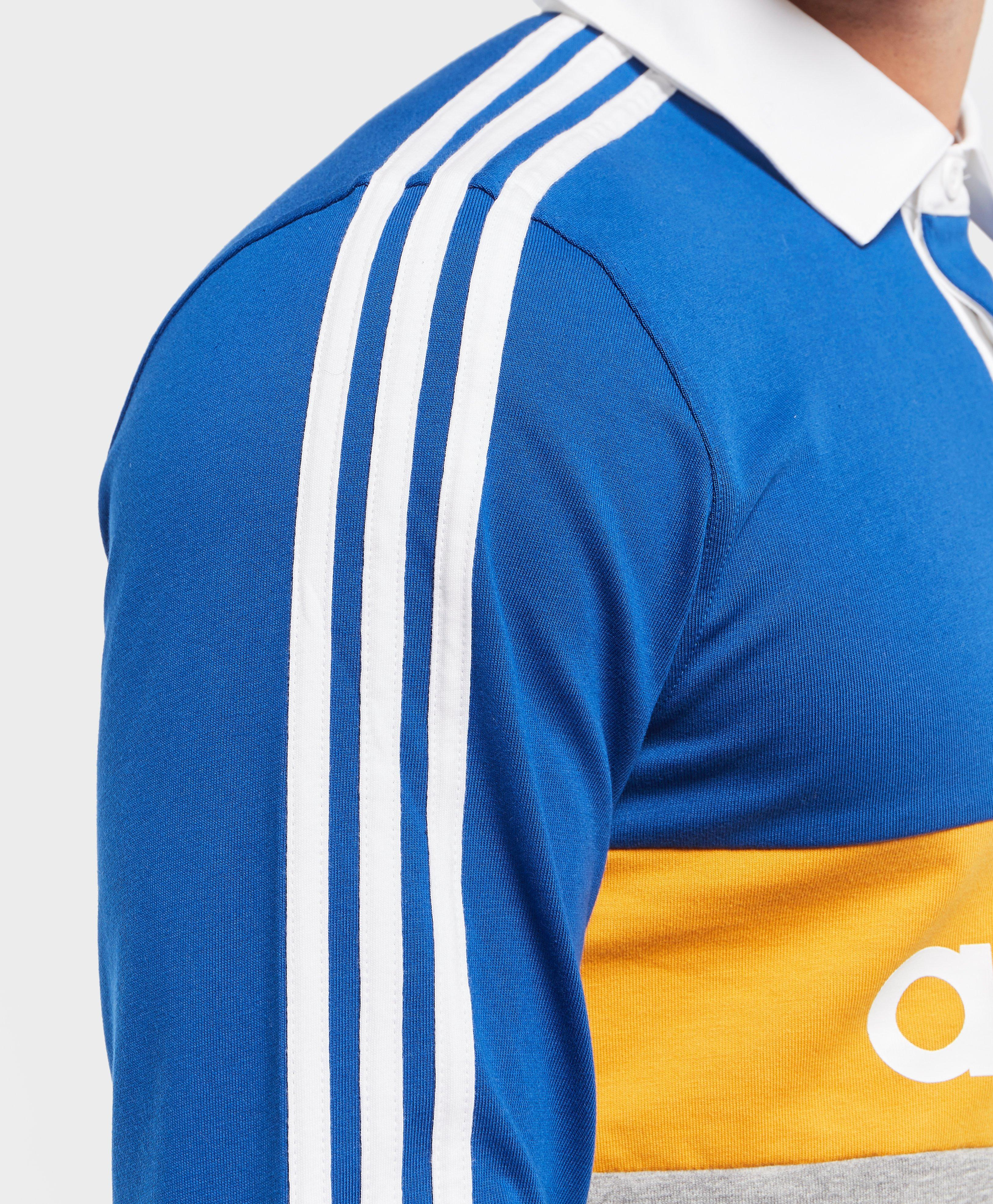 adidas Originals Skateboarding Heritage Polo in Blue/Yellow (Blue) for Men