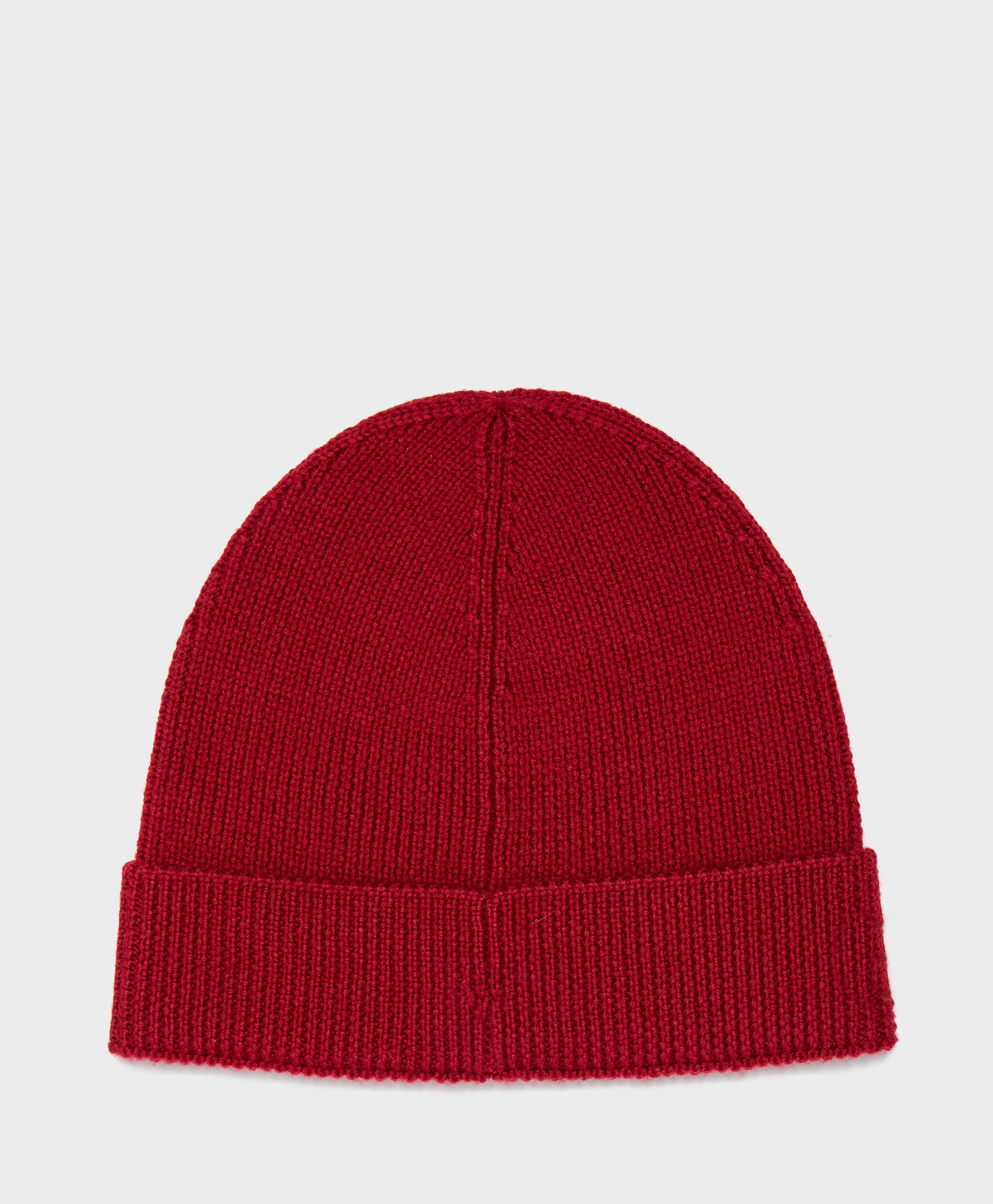 Lyst - Lacoste Ribbed Beanie in Red for Men 2bd61648d865