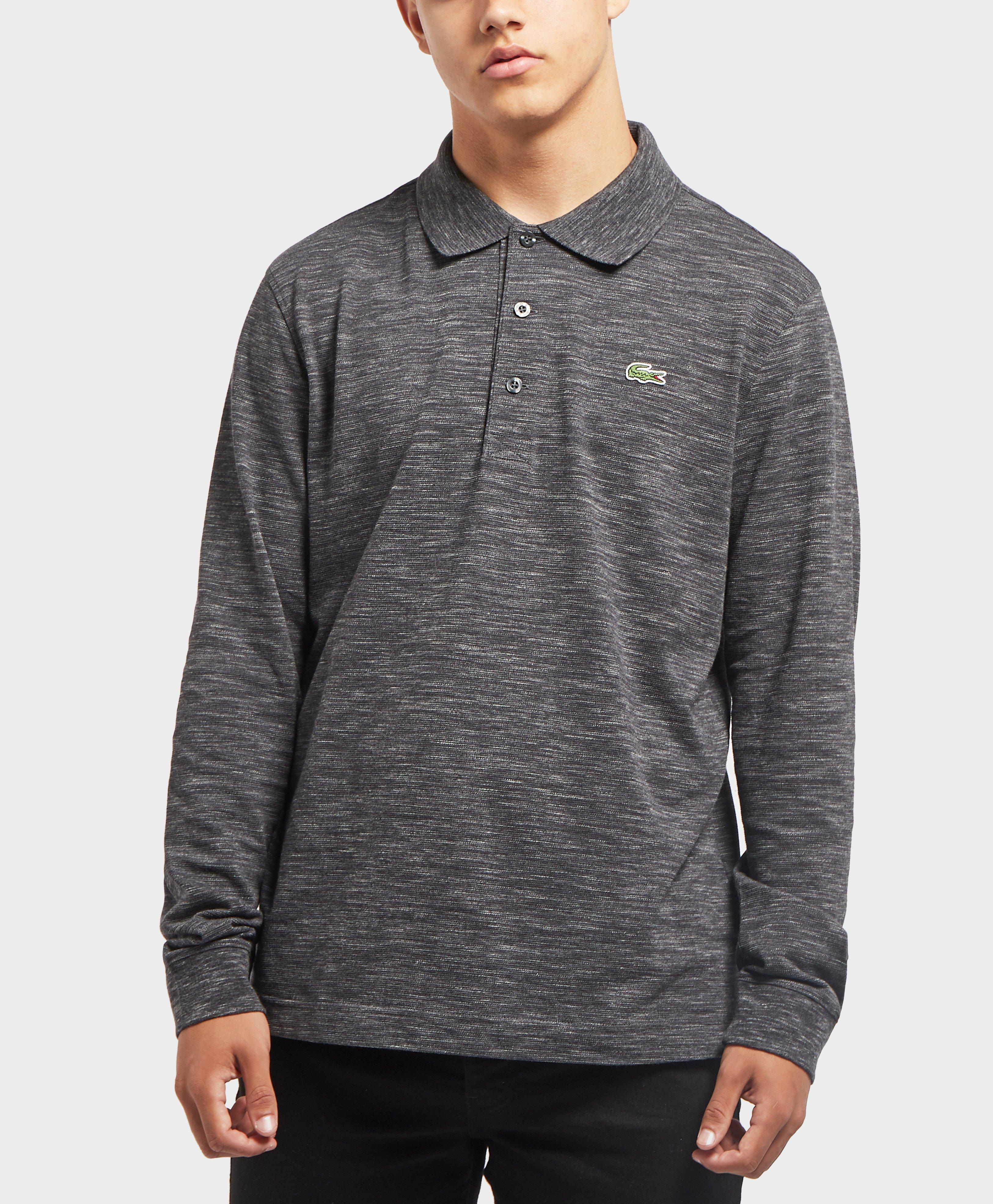 d974d51d Lacoste Alligator Long Sleeve Polo Shirt in Gray for Men - Lyst
