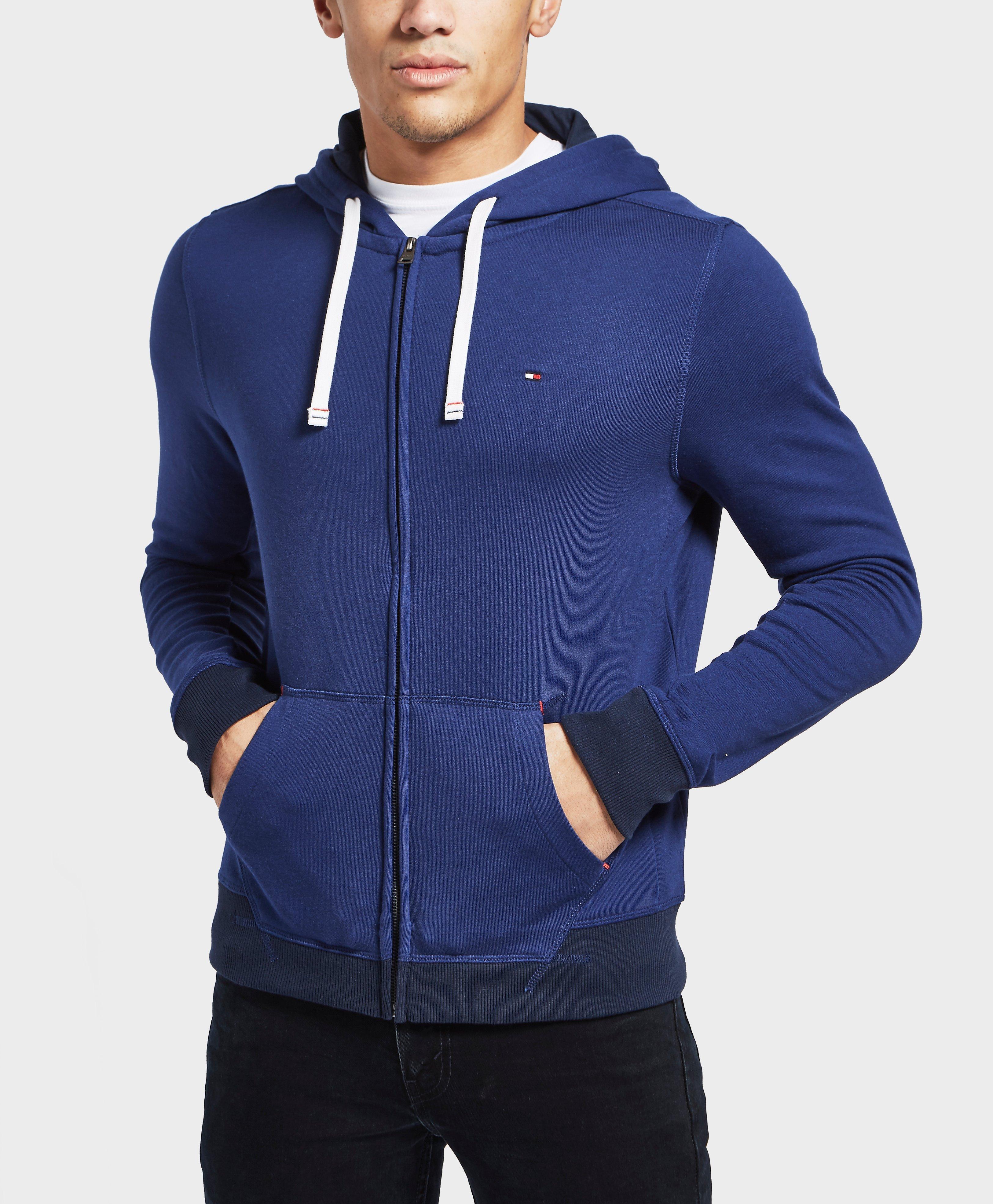 lyst tommy hilfiger core full zip hoodie in blue for men. Black Bedroom Furniture Sets. Home Design Ideas