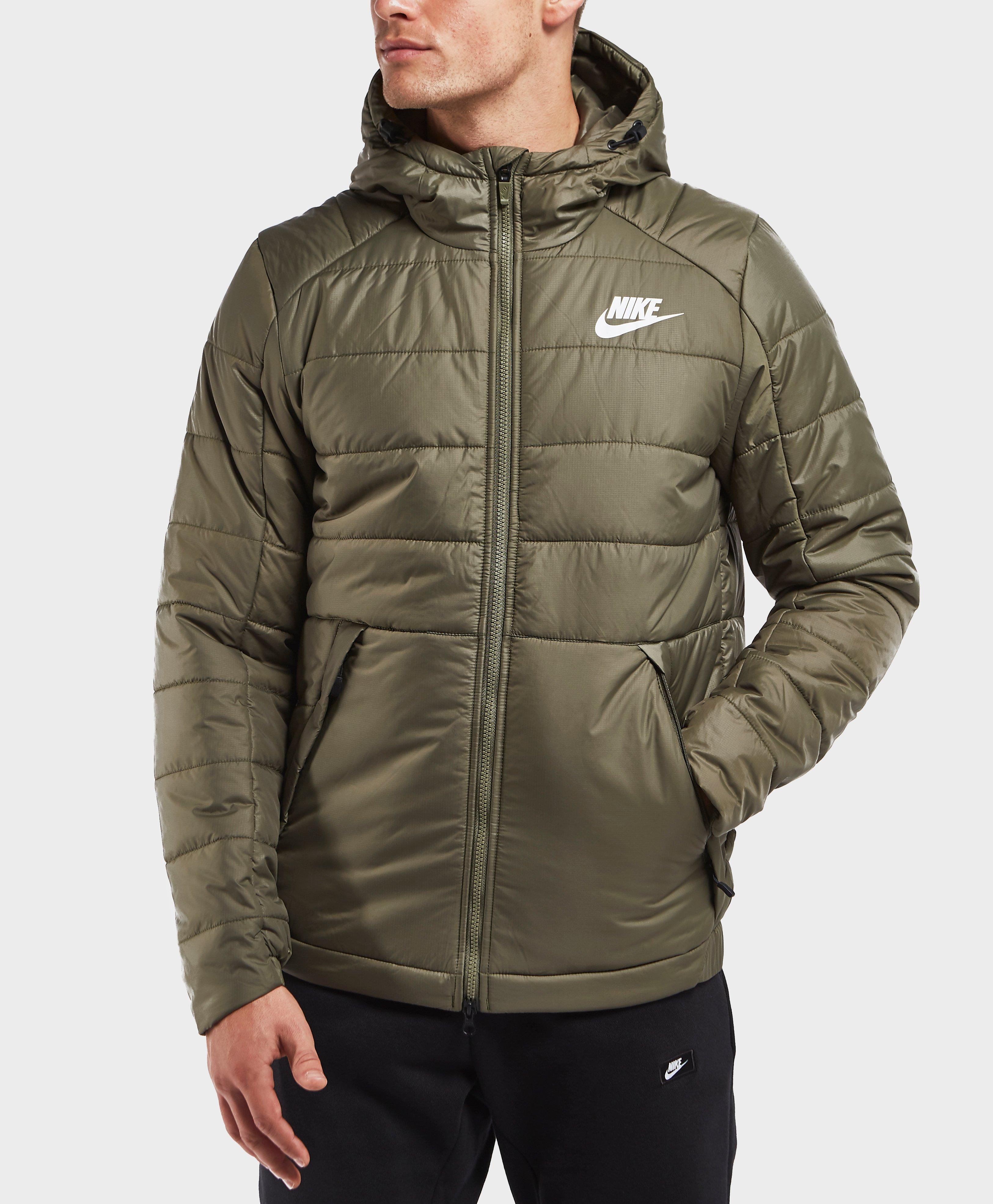 Nike Synthetic Bubble Jacket In Green For Men Lyst