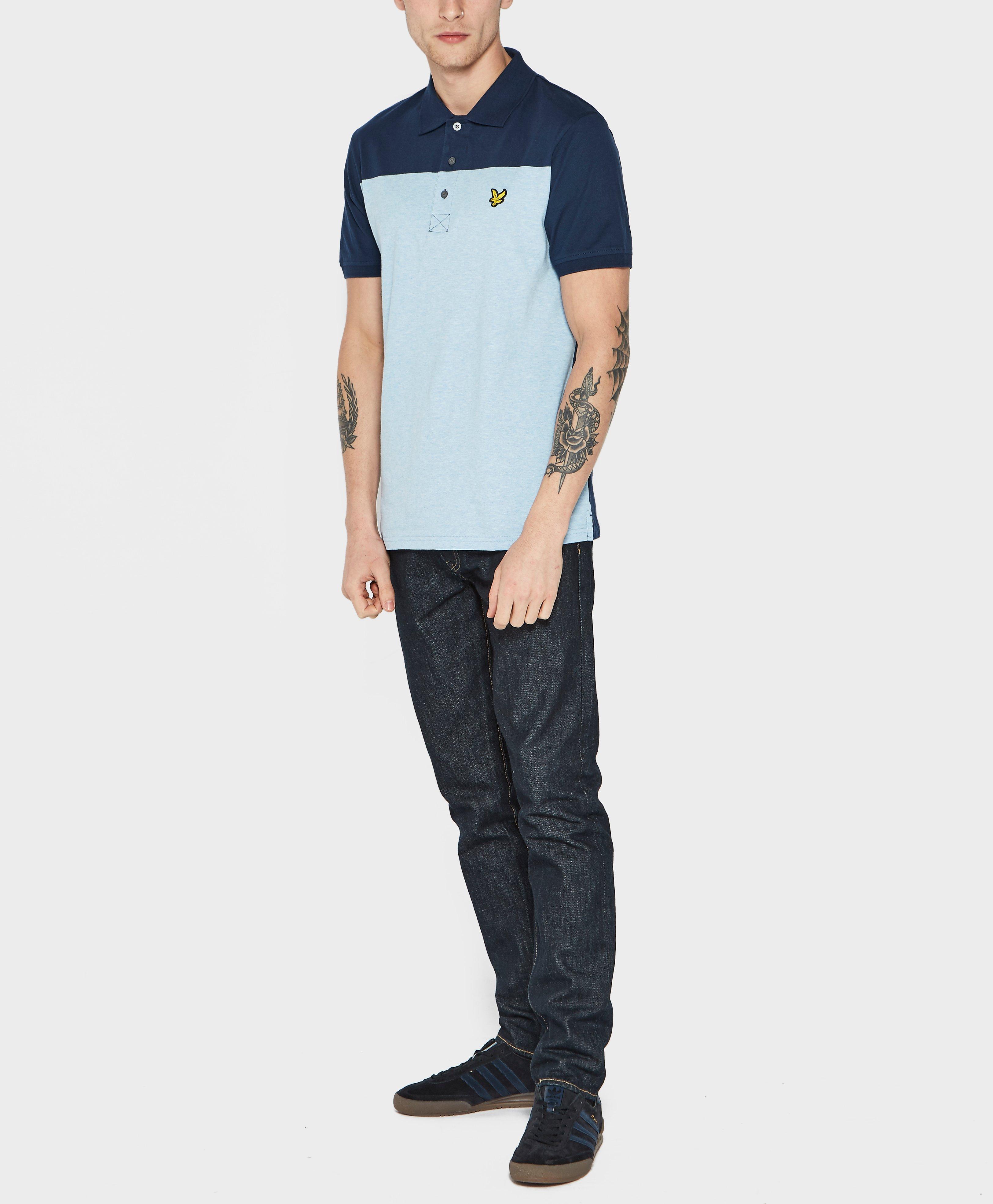 18fe64c300c Lyle   Scott Yoke Polo Shirt in Blue for Men - Lyst