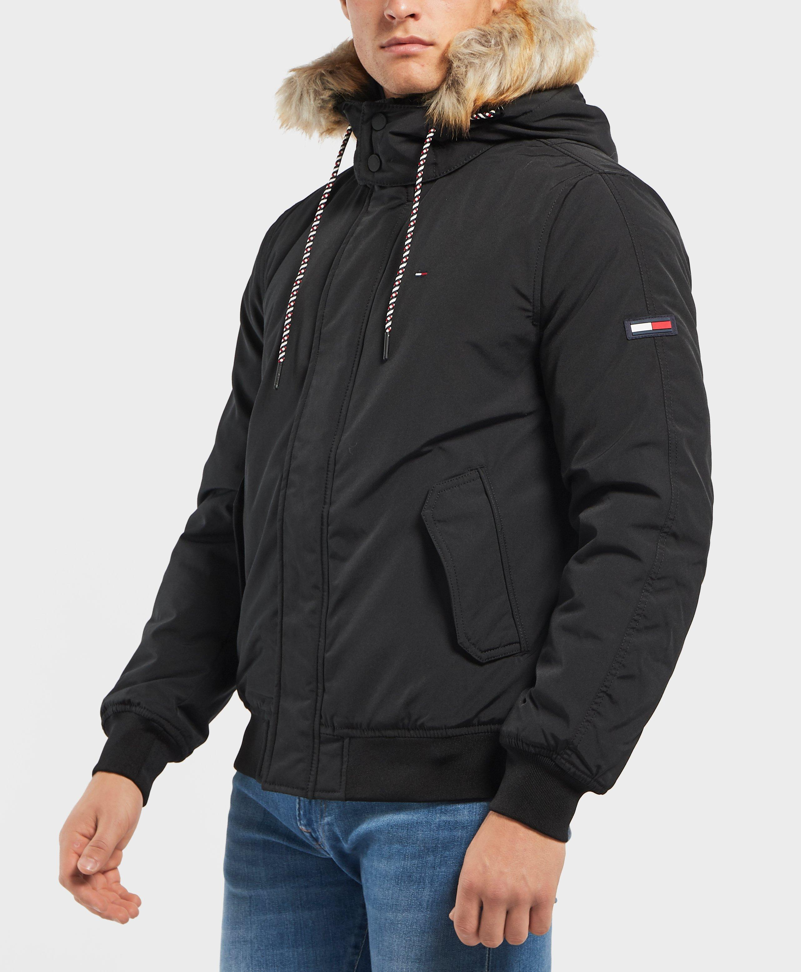 8f498ab67 Tommy Hilfiger Tech Padded Bomber Jacket in Black for Men - Lyst