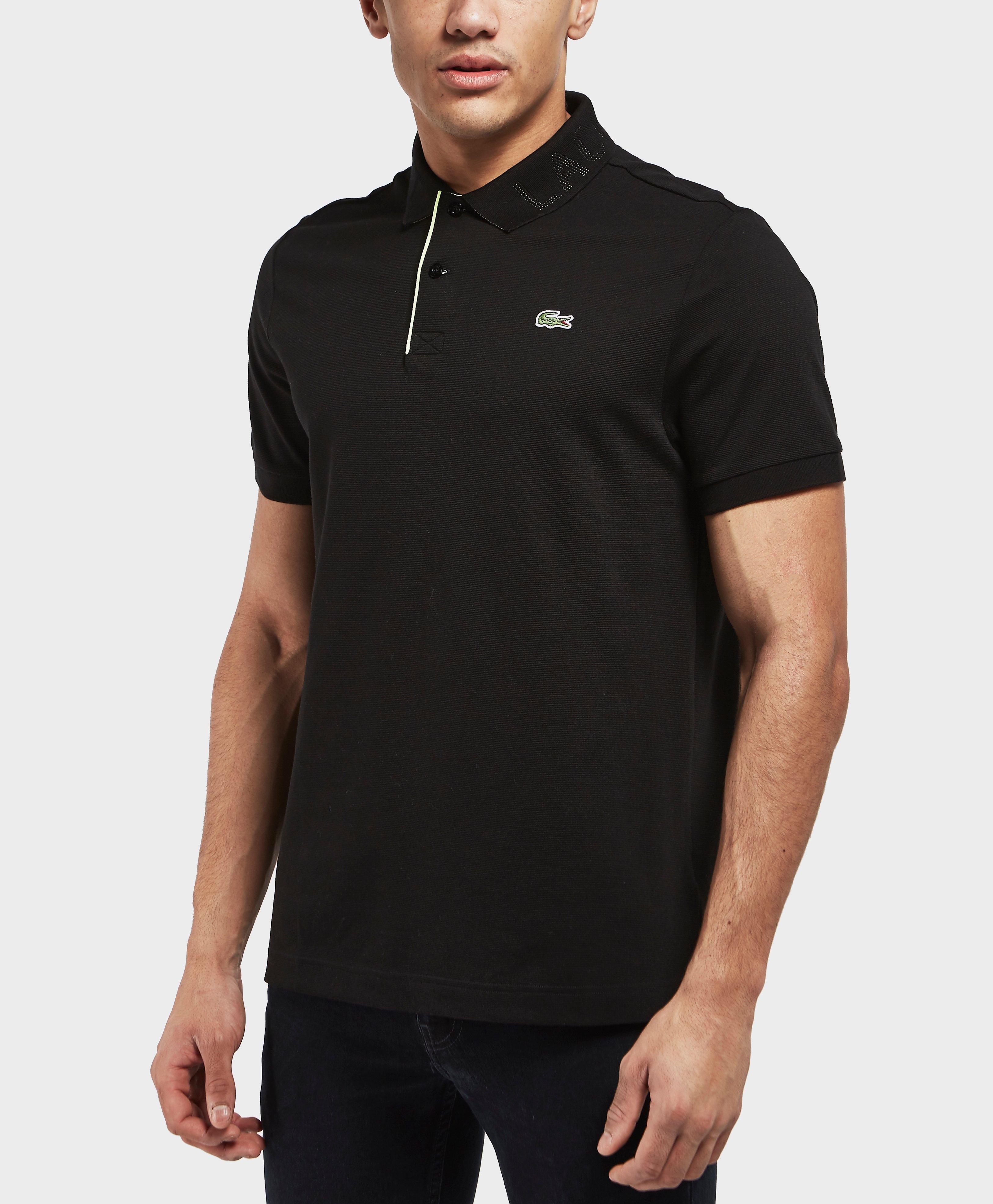 Lyst lacoste logo collar short sleeve polo shirt in for Short sleeve lacoste shirt