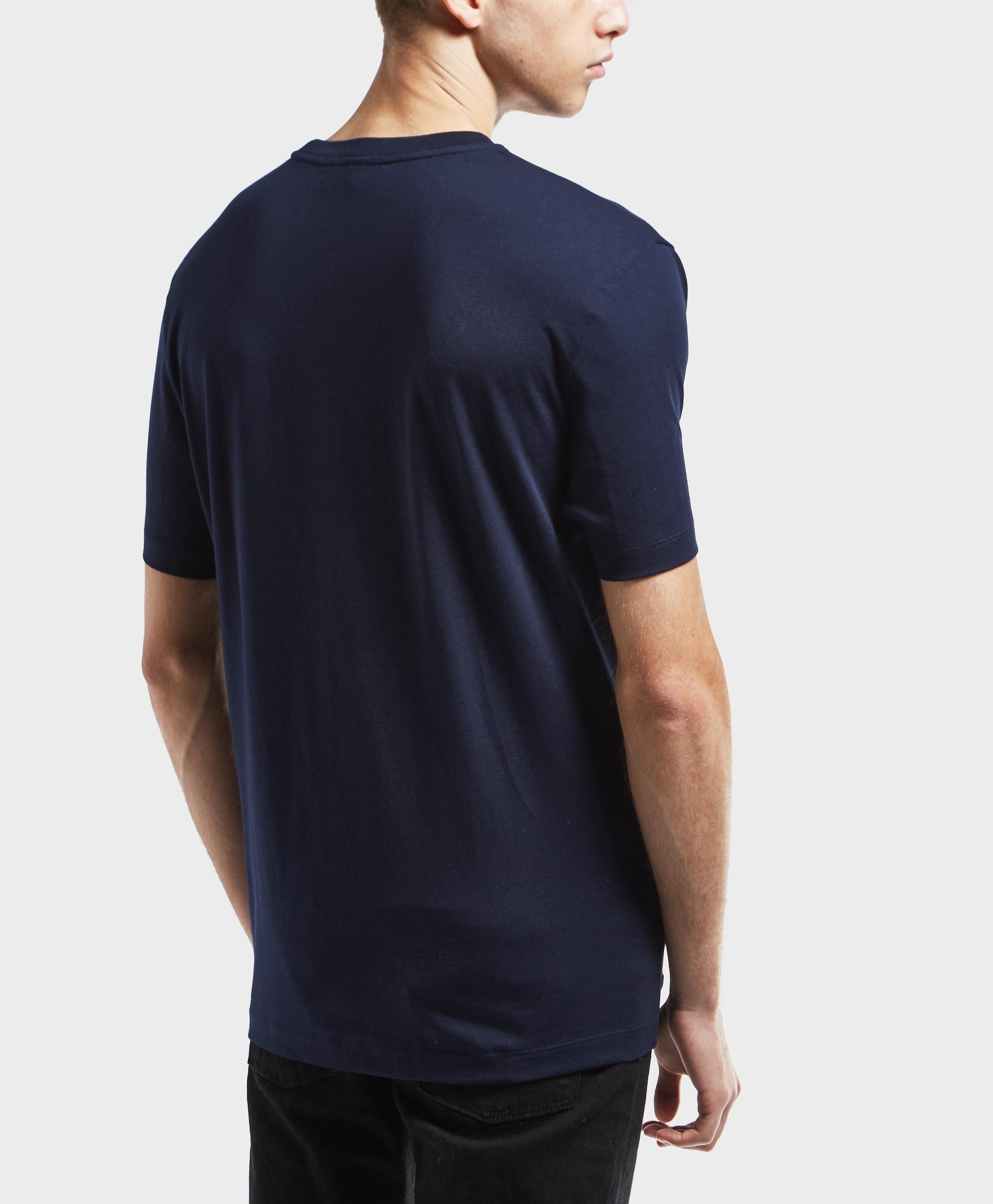 lacoste logo short sleeve t shirt in blue for men lyst. Black Bedroom Furniture Sets. Home Design Ideas