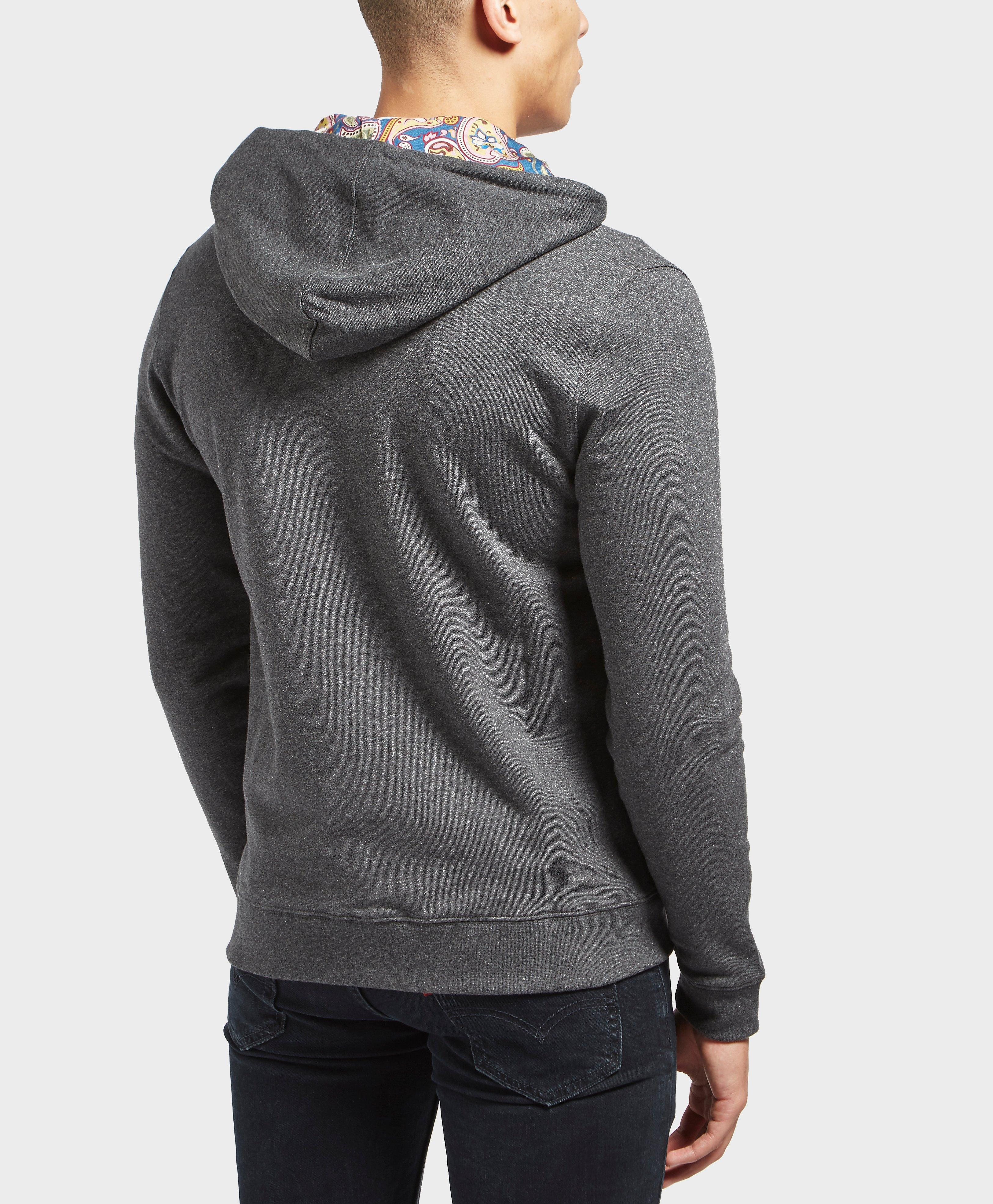 Pretty Green Cotton Busby Zip Up Hoody in Grey for Men