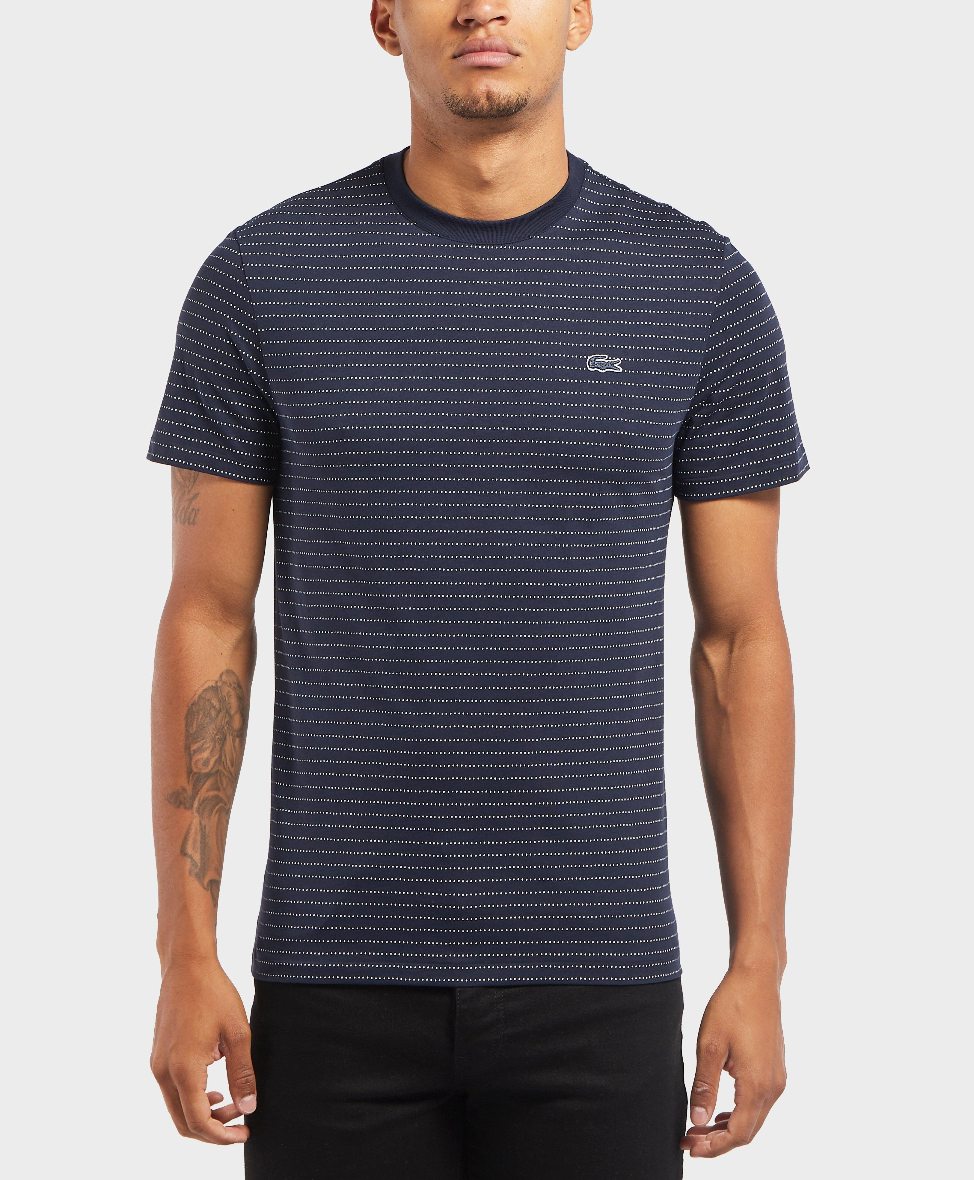 5a14afa4cc1ff Lacoste Dot Stripe Short Sleeve T-shirt in Blue for Men - Lyst