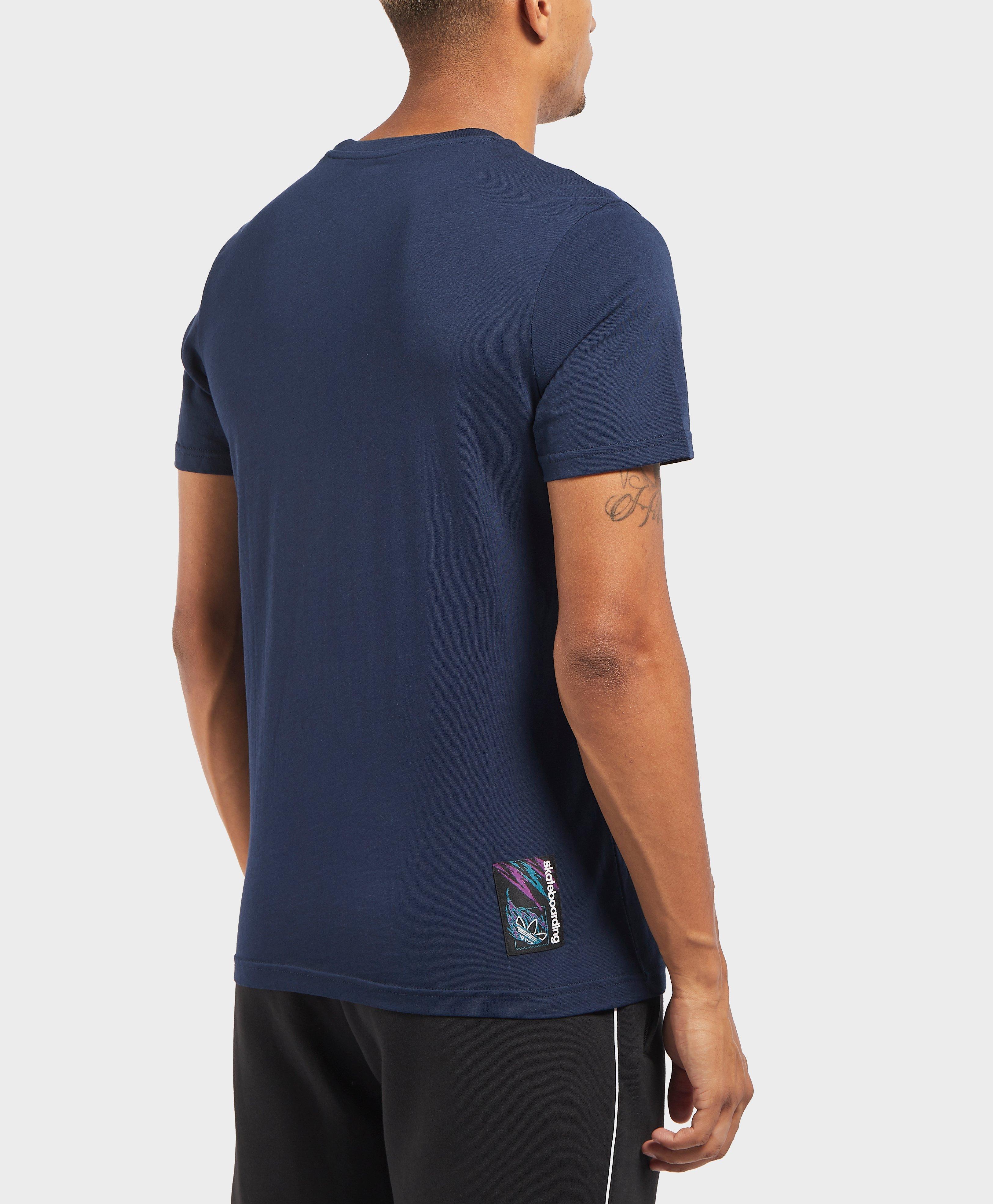 d6f3ced29bc Lyst - Adidas Originals 90s Tennis Logo Short Sleeve T-shirt in Blue for Men