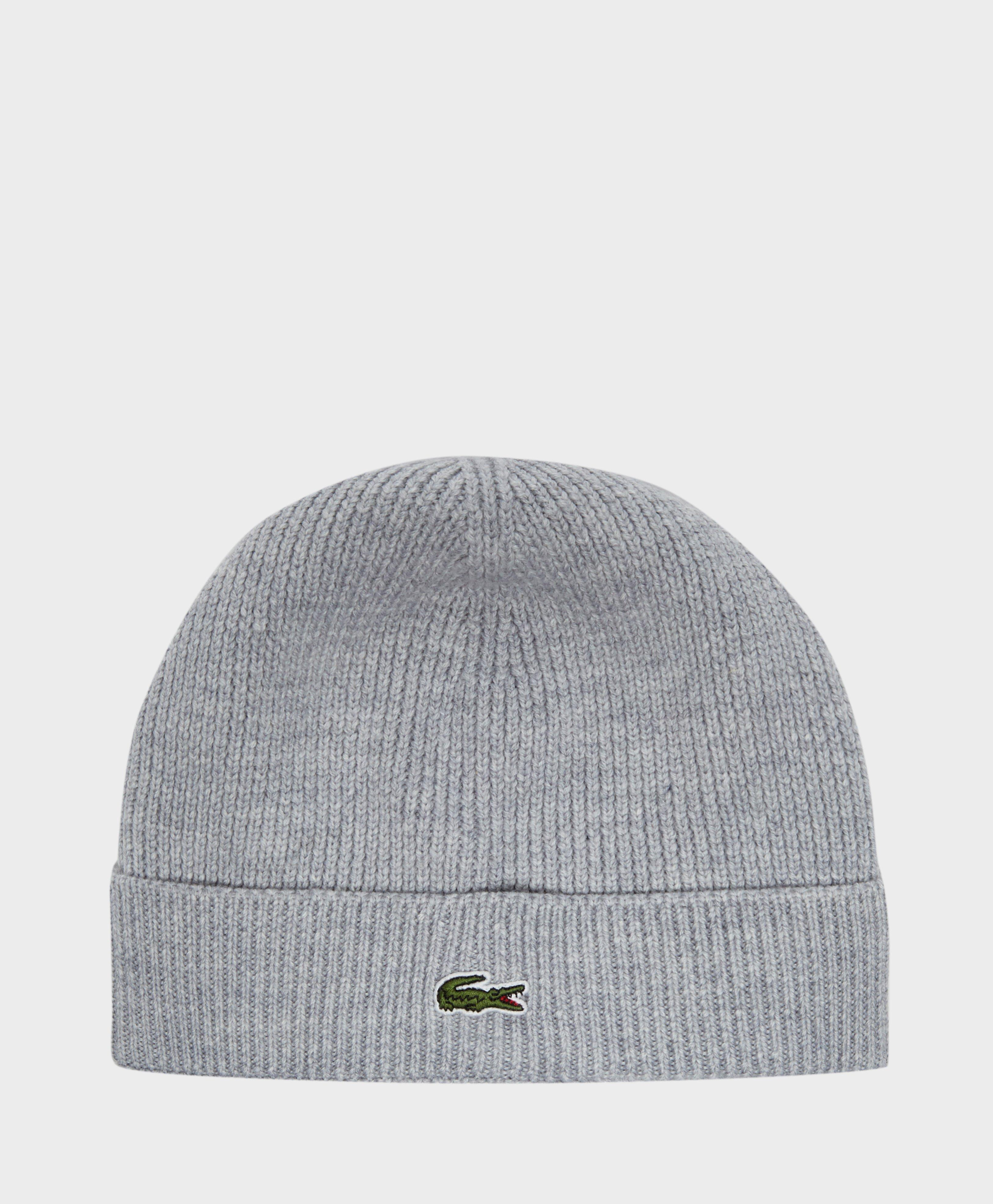 90ea7686f792 Lacoste Knitted Beanie in Gray for Men - Lyst
