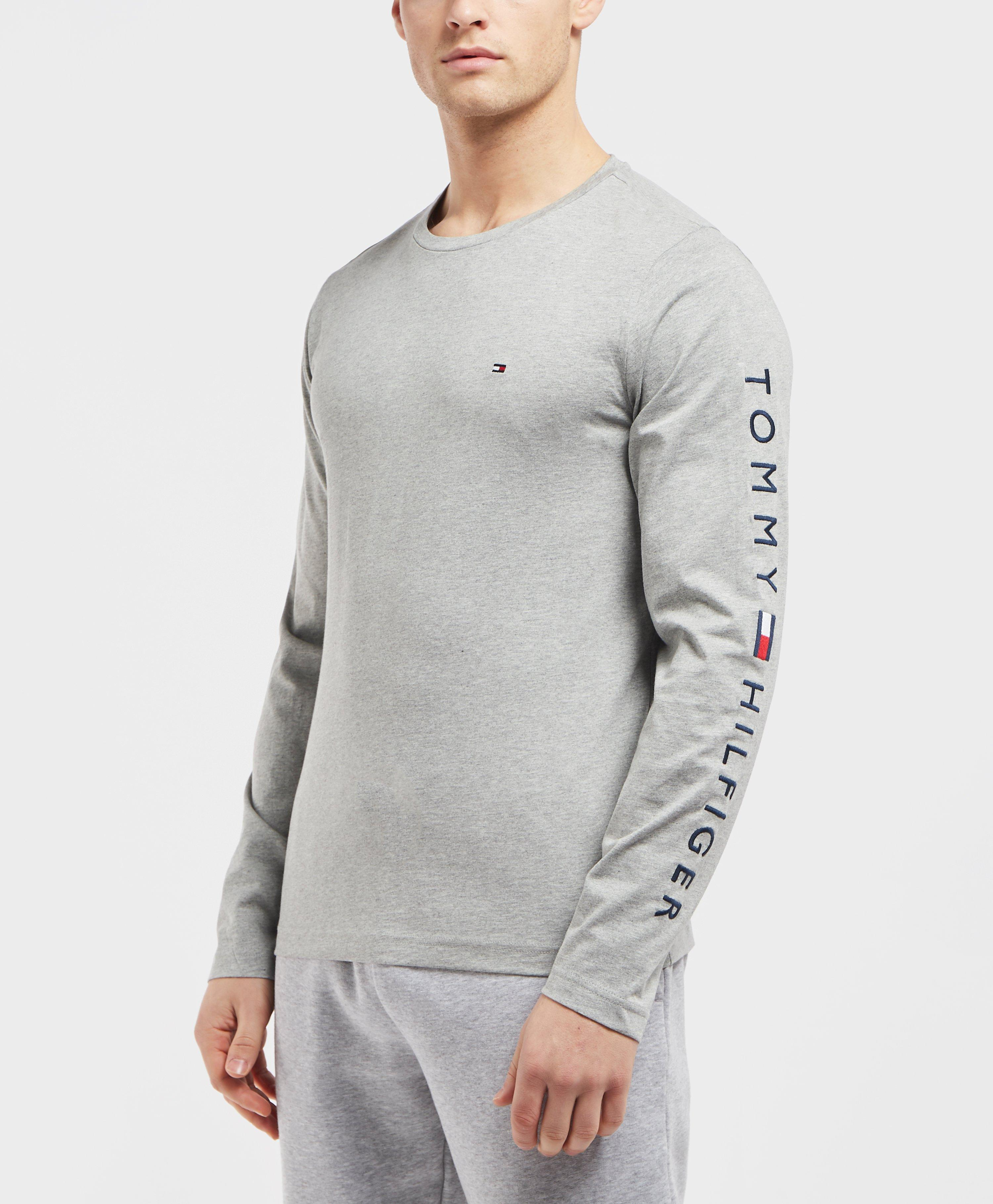 99a161b5 Tommy Hilfiger Long Sleeve Arm Logo T-shirt in Gray for Men - Lyst
