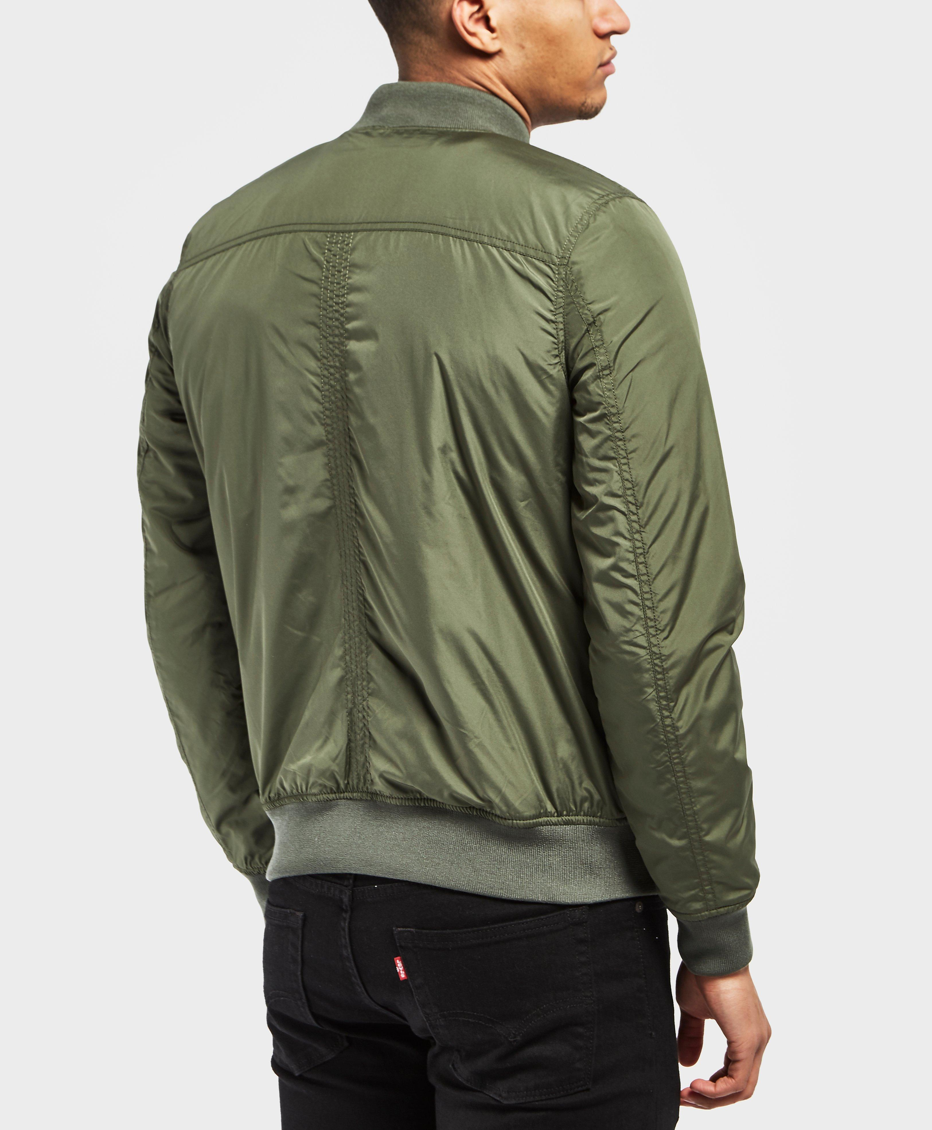 Tommy Hilfiger Padded Bomber Jacket in Green for Men - Lyst