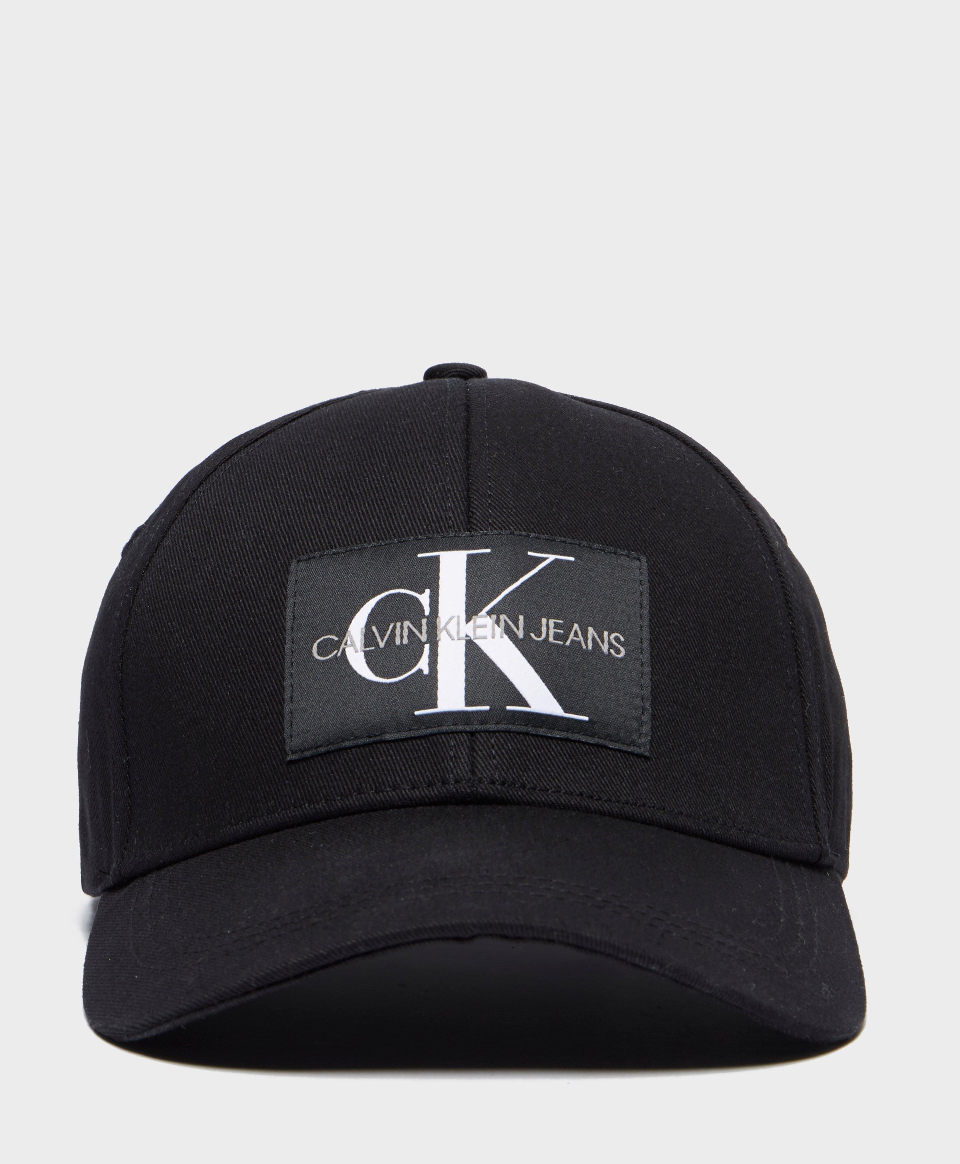 1079e36c4 Calvin Klein Patch Logo Cap in Black for Men - Lyst