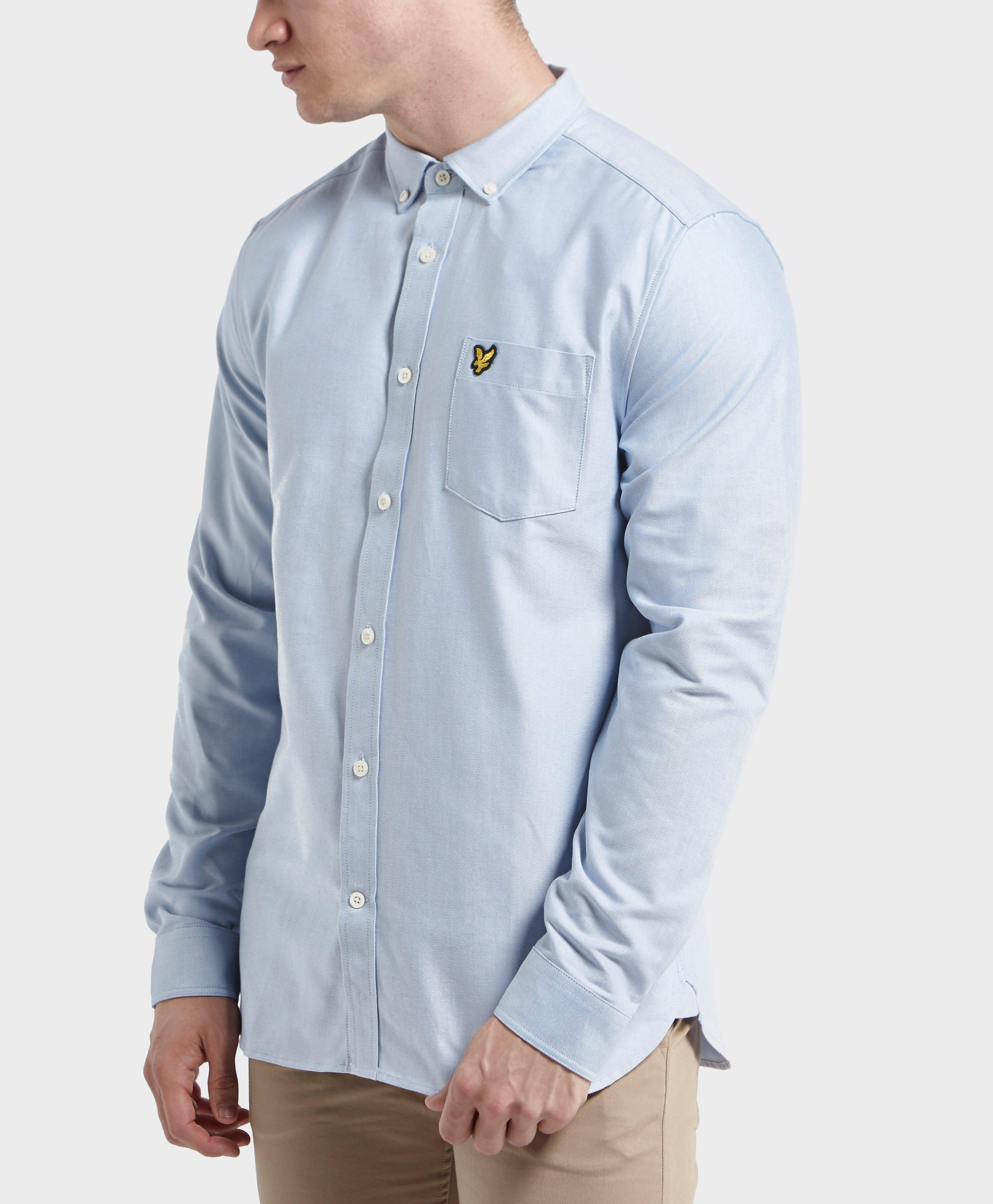 Lyst lyle scott oxford shirt in blue for men for Lyle and scott shirt sale
