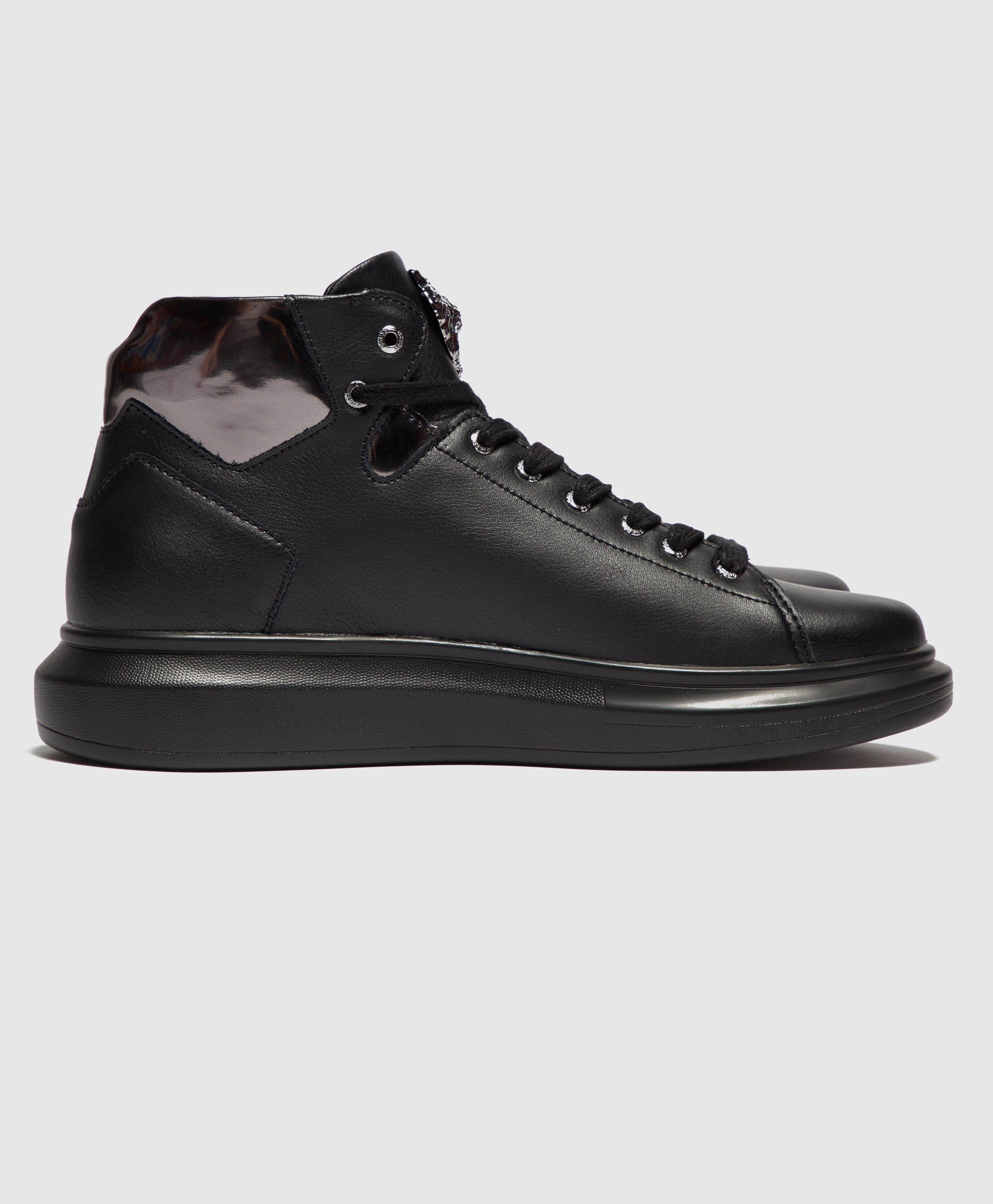 Guess Leather Opera Trainers in Black