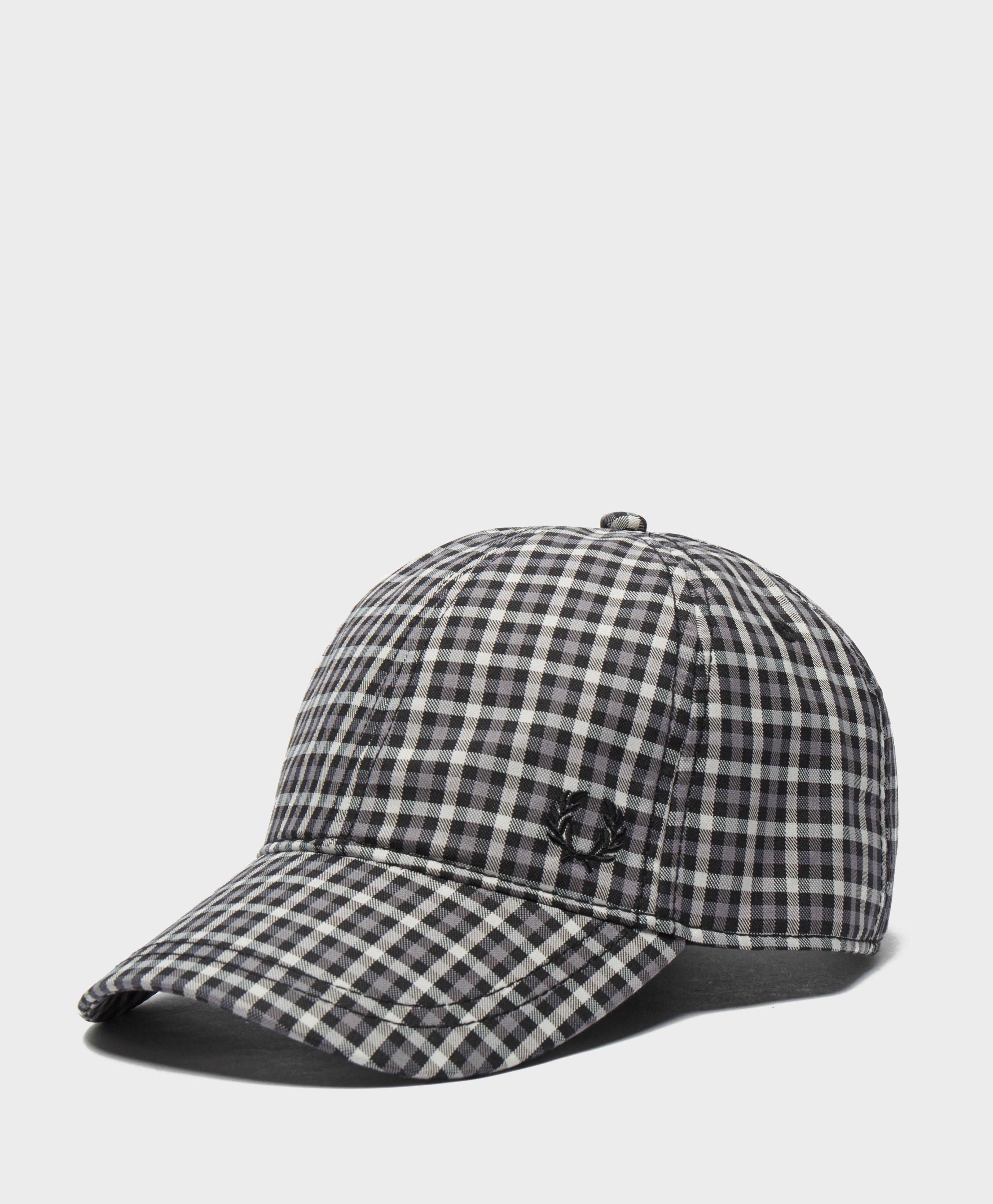 0c0554f37ef Fred Perry Crest Check Cap for Men - Lyst