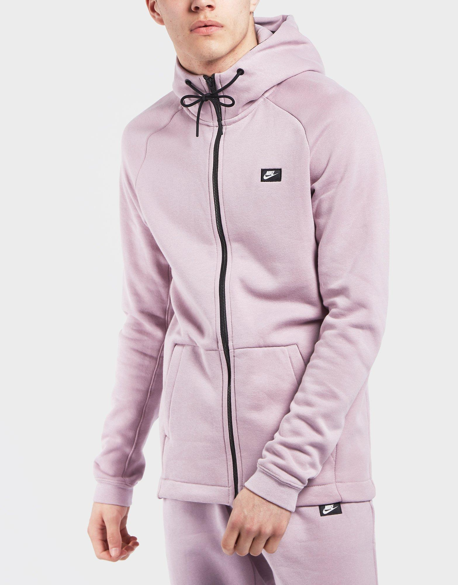 437a3eb4eb7a Lyst - Nike Modern Bb Full Zip Hoodie in Pink for Men