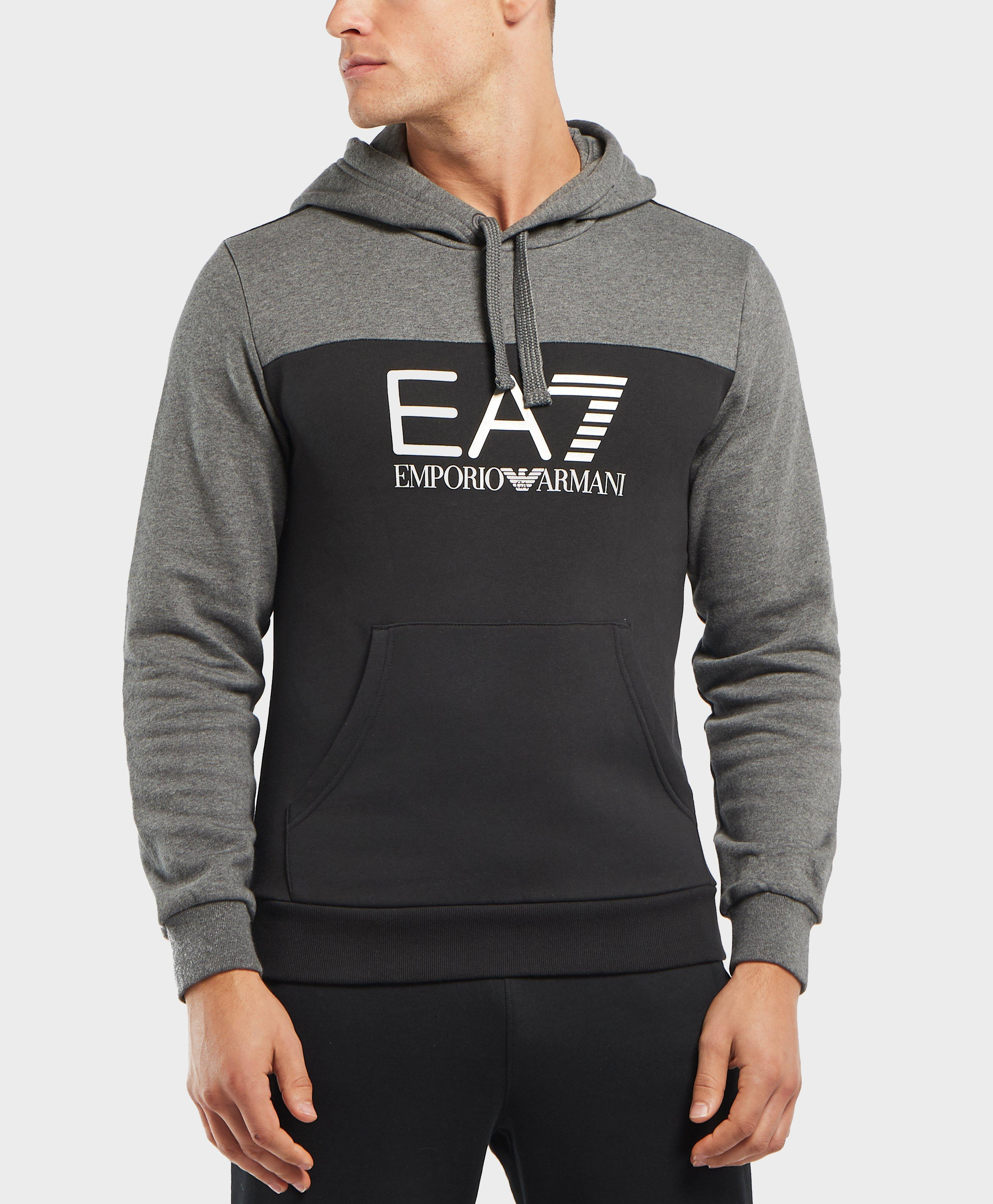 a59f9a09b79 Lyst - Ea7 Tritonal Overhead Hoodie in Gray for Men