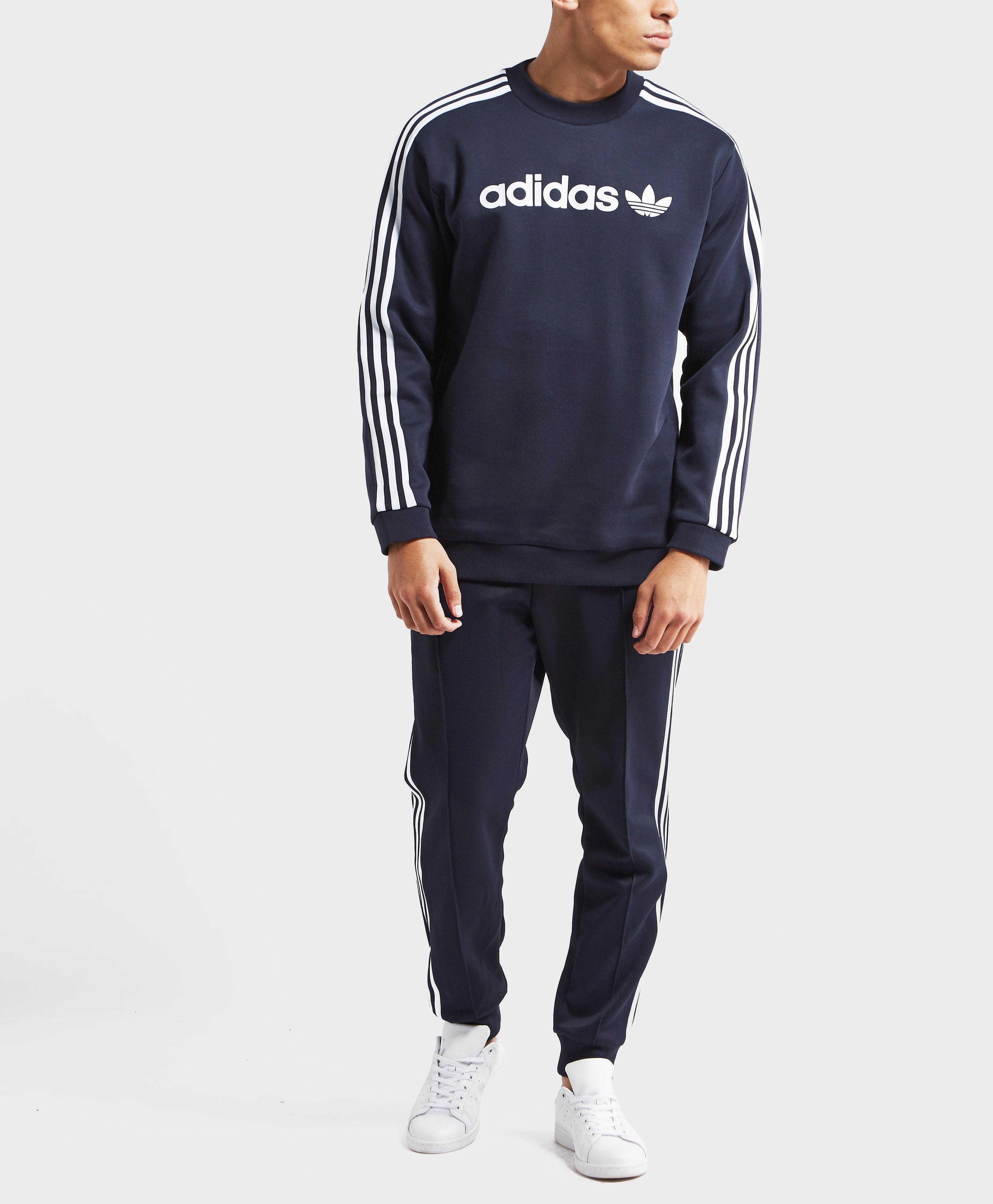 Adidas Originals Blue Linear Trefoil Sweatshirt for men
