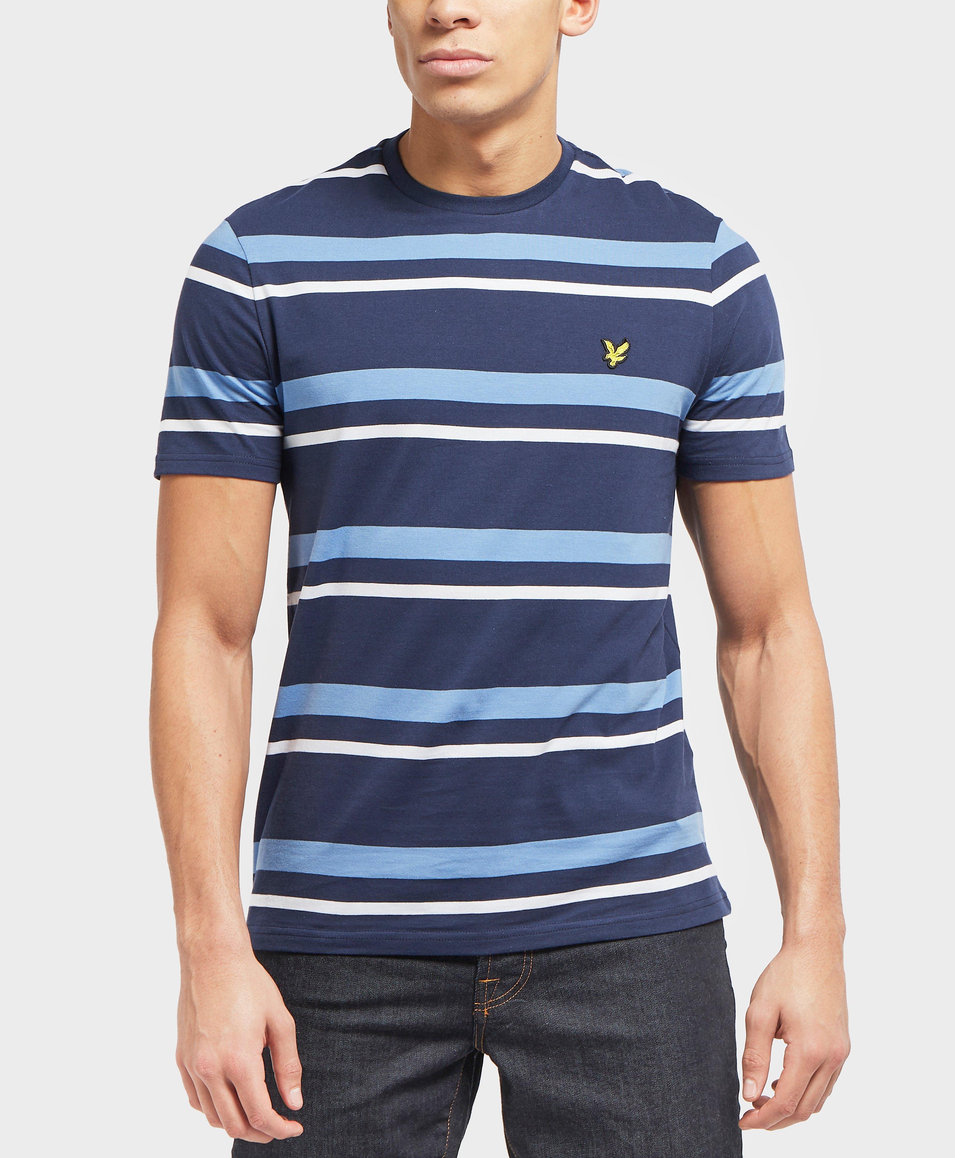 874c08615 Lyst - Lyle & Scott Stripe Short Sleeve T-shirt in Blue for Men