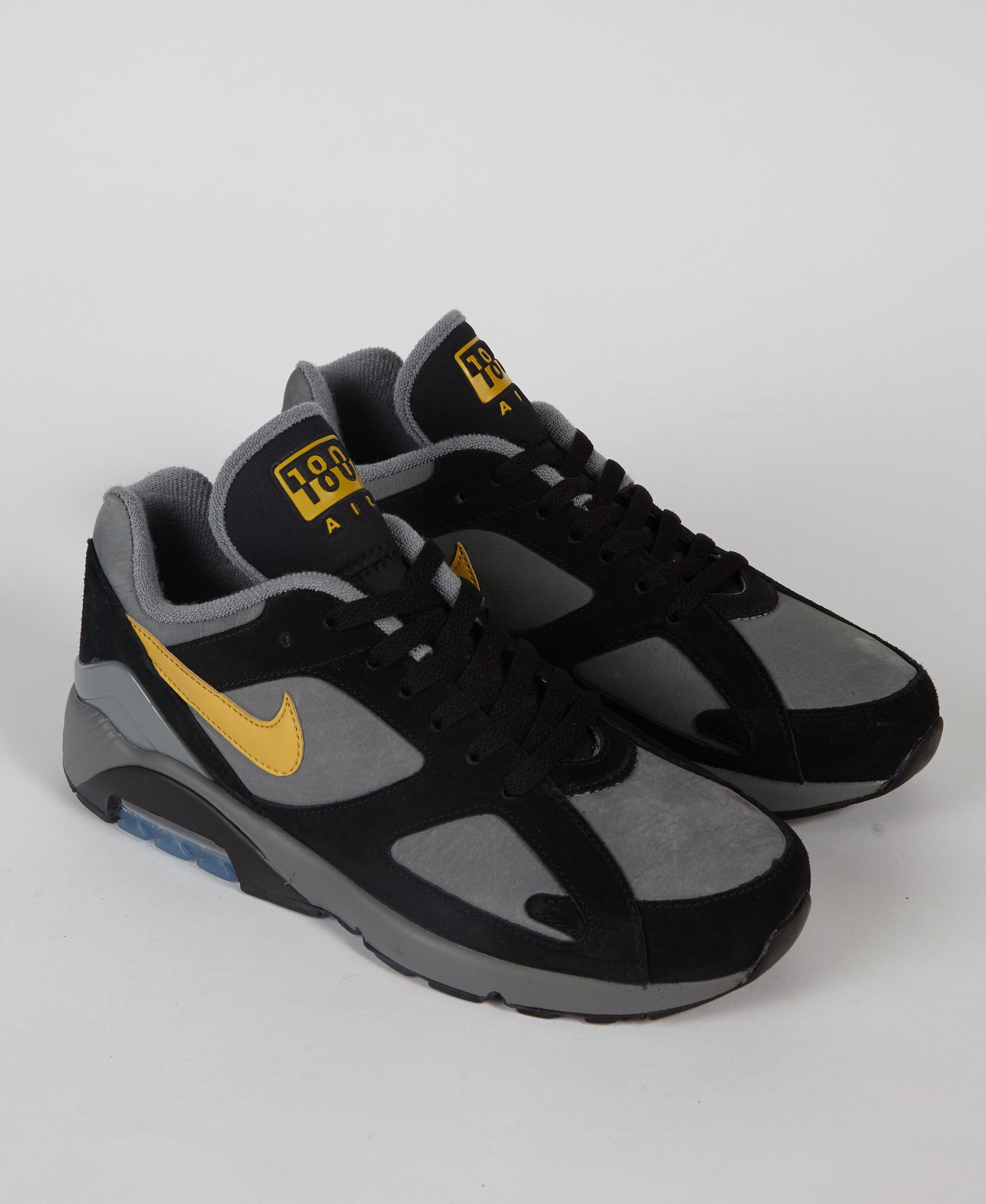 20a6cfb8650c Nike Air Max 180 Cool Grey   Black   Gold in Black for Men - Lyst