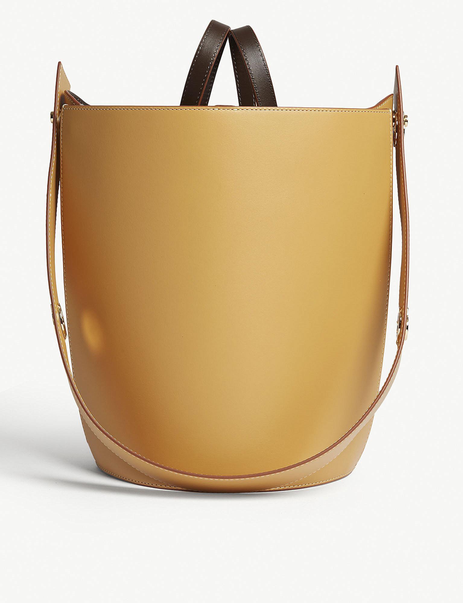 cf5daf79518f0 Danse Lente Sand Brown Mini Lorna Small Leather Bucket Bag in ...