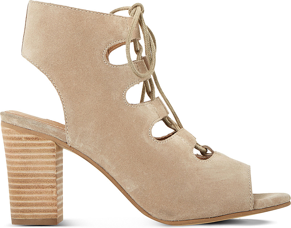 c723332e5fca Dune Jamima Suede Ankle Boots in Natural - Lyst